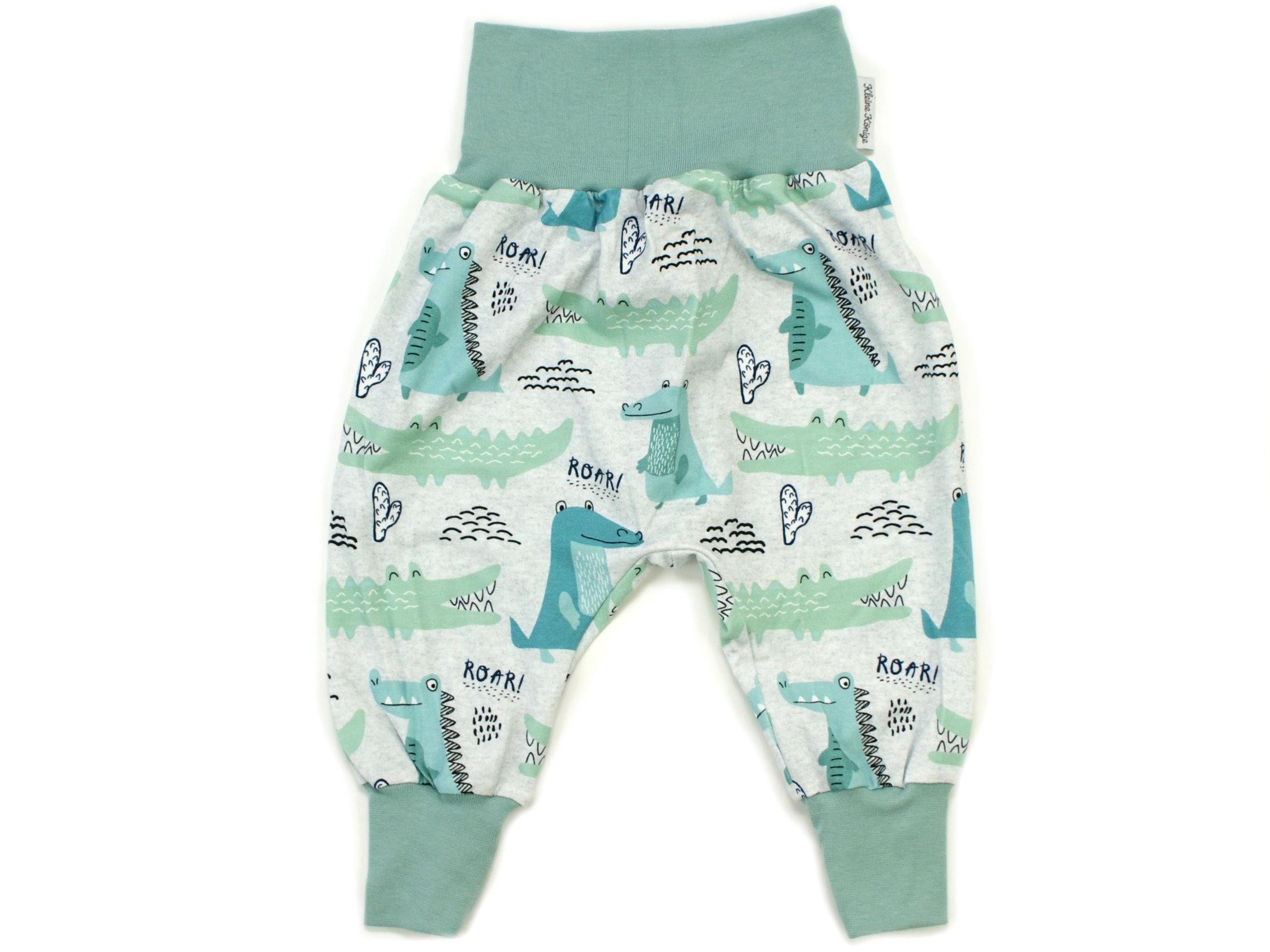 """Baby Pumphose Krokodil """"Little Croco"""" mint"""