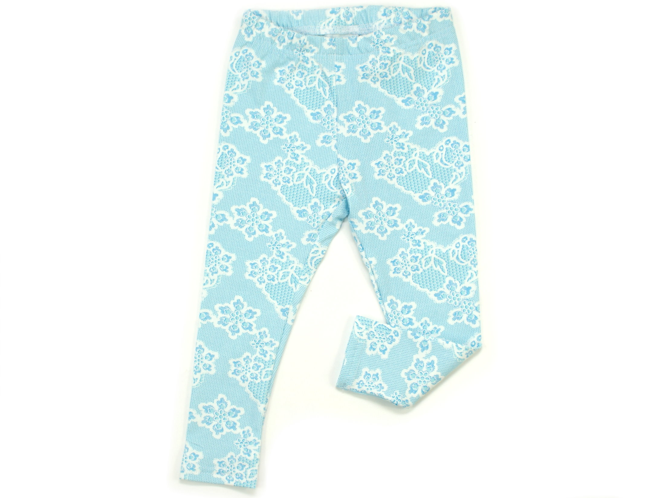 "Kinder Leggings ""Lacy Blue"" hellblau weiß"