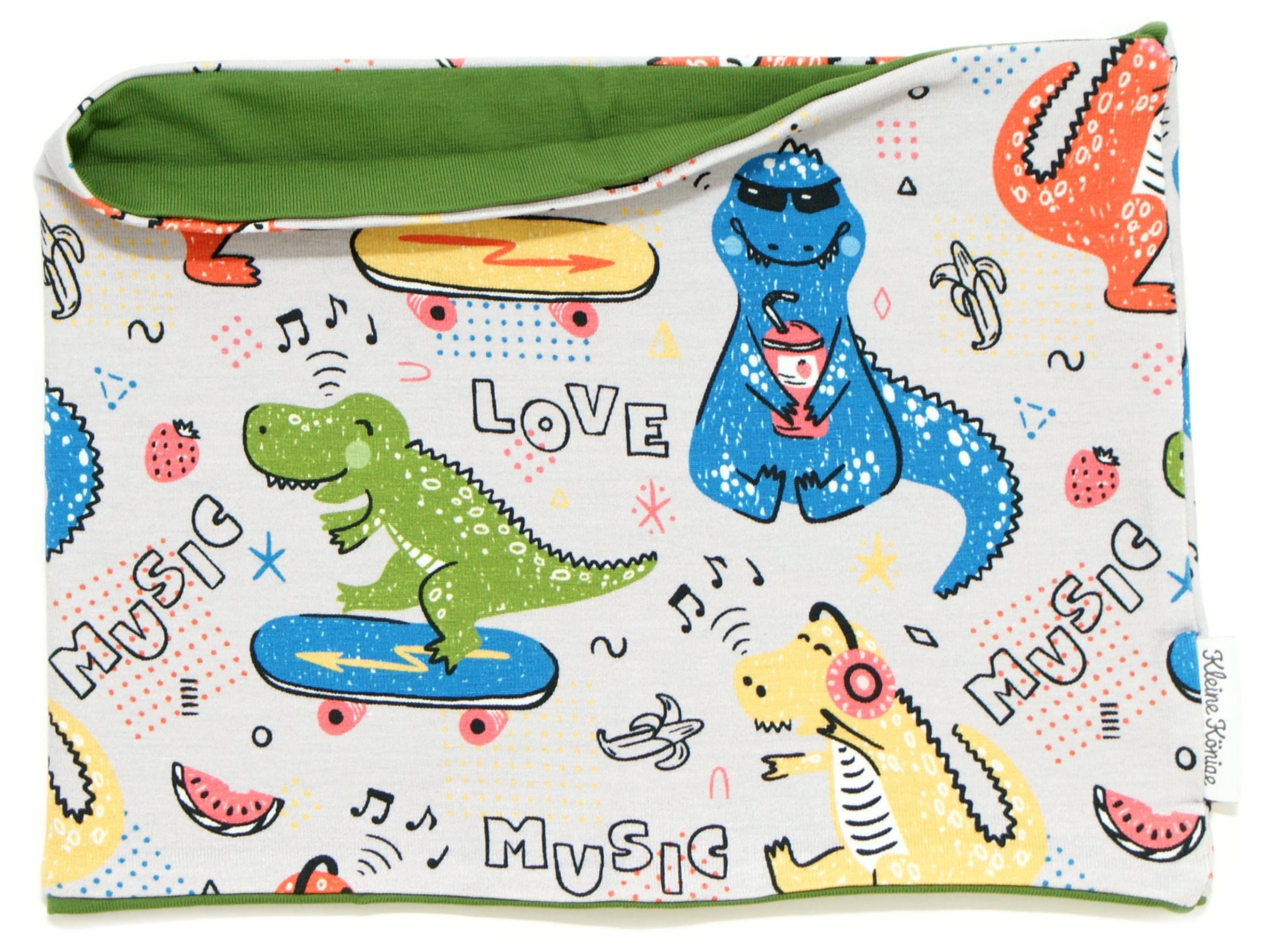 """Kinderloop Schal """"Music Dino"""" grün"""
