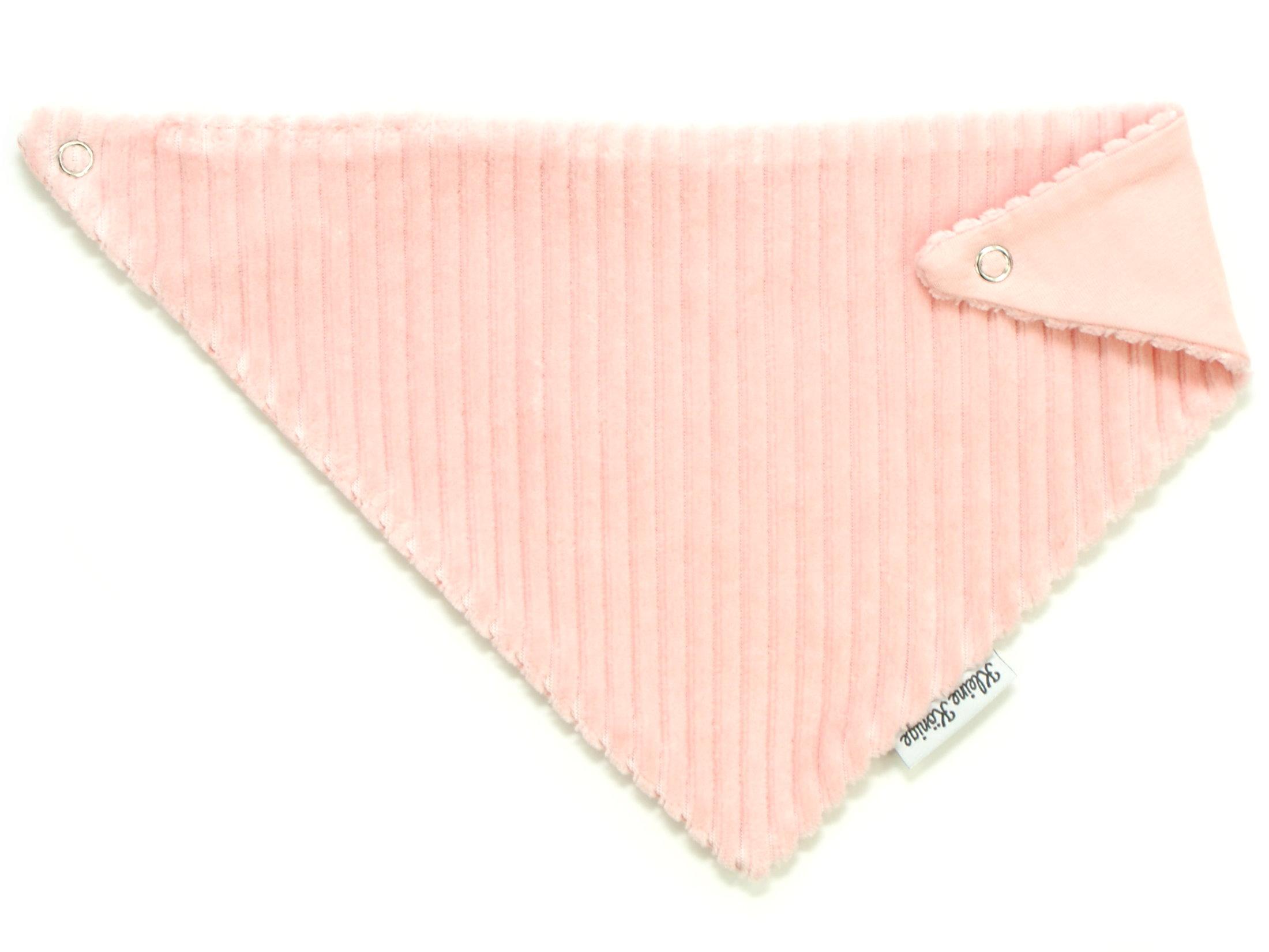 Baby Wende-Halstuch aus Rippjersey rosa