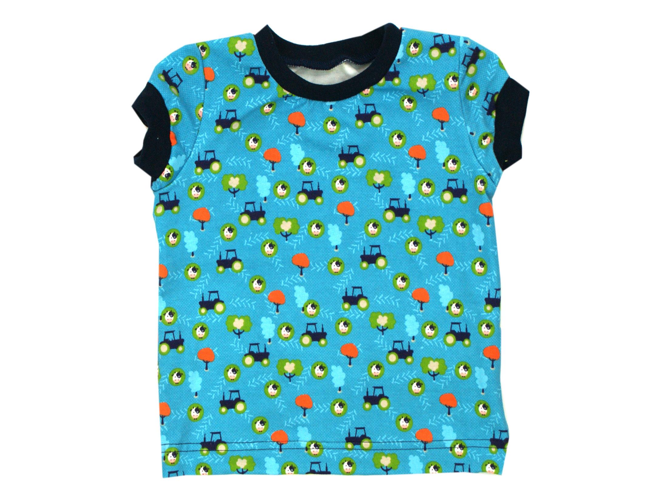 "Kinder T-Shirt ""Trekker"" türkis marineblau in 74/80"
