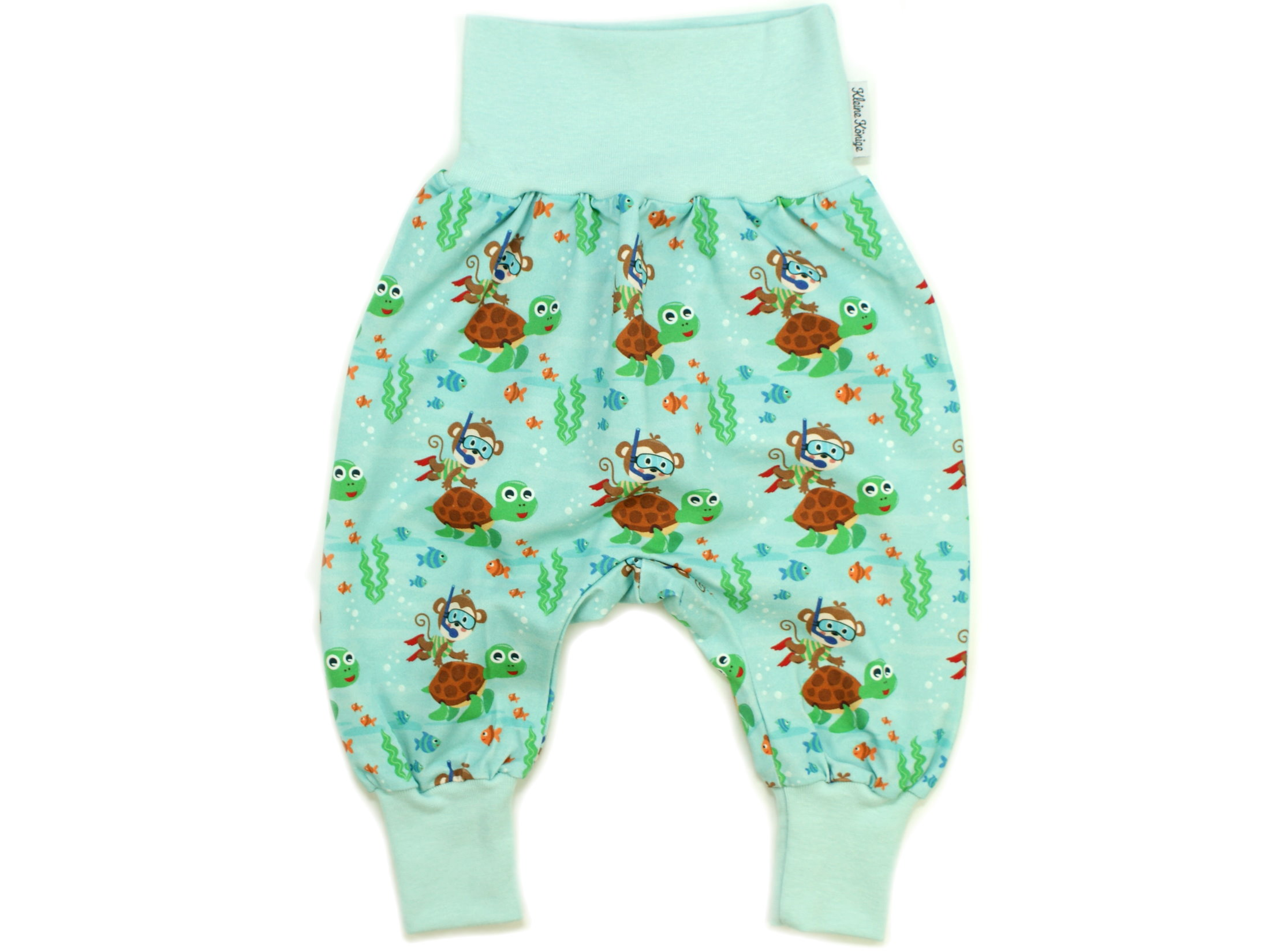 "Baby Pumphose Affe ""Diving Monkey"" aqua braun"