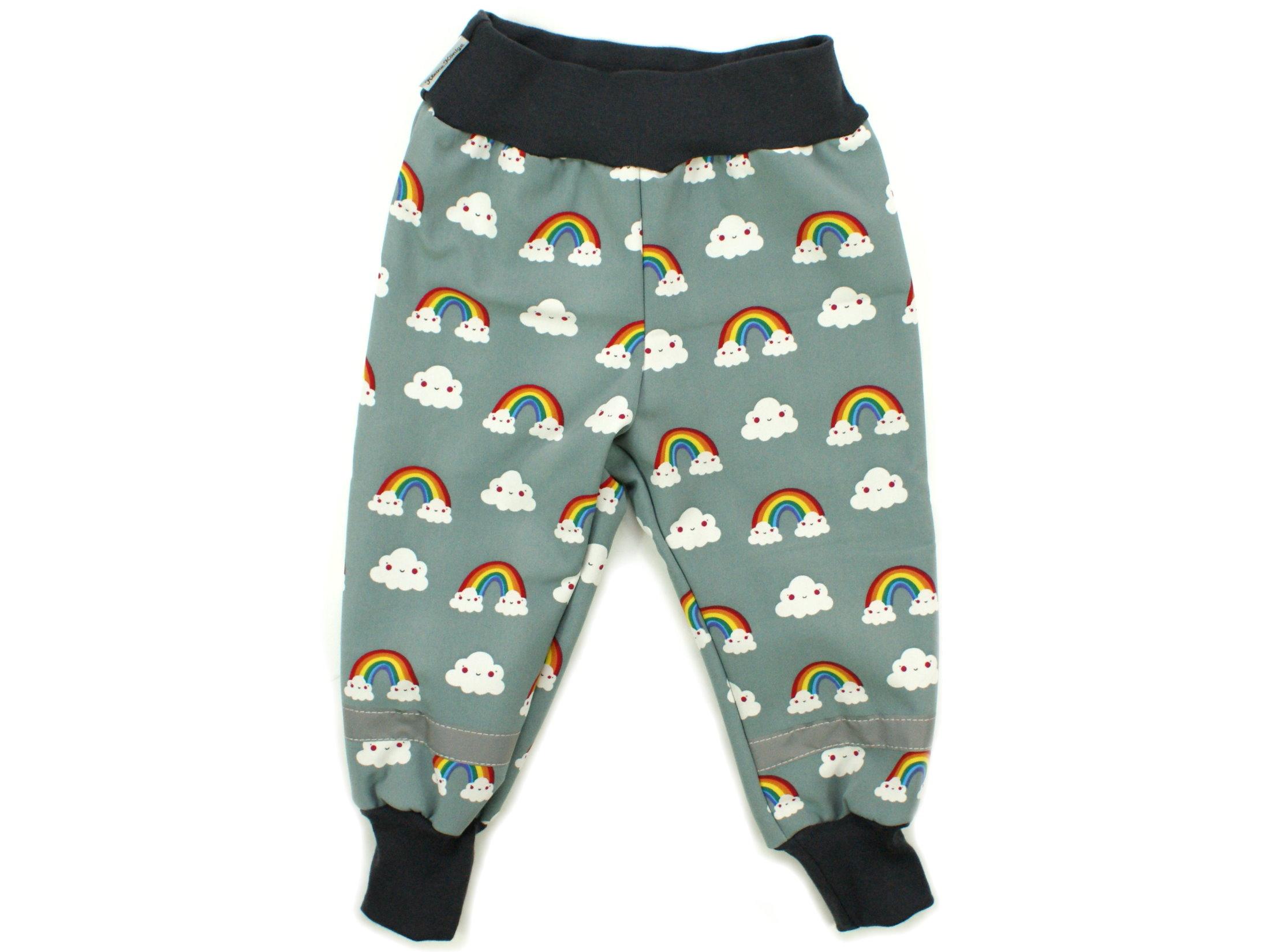 """Kinder Softshell-Hose """"Rainbow"""" grau"""