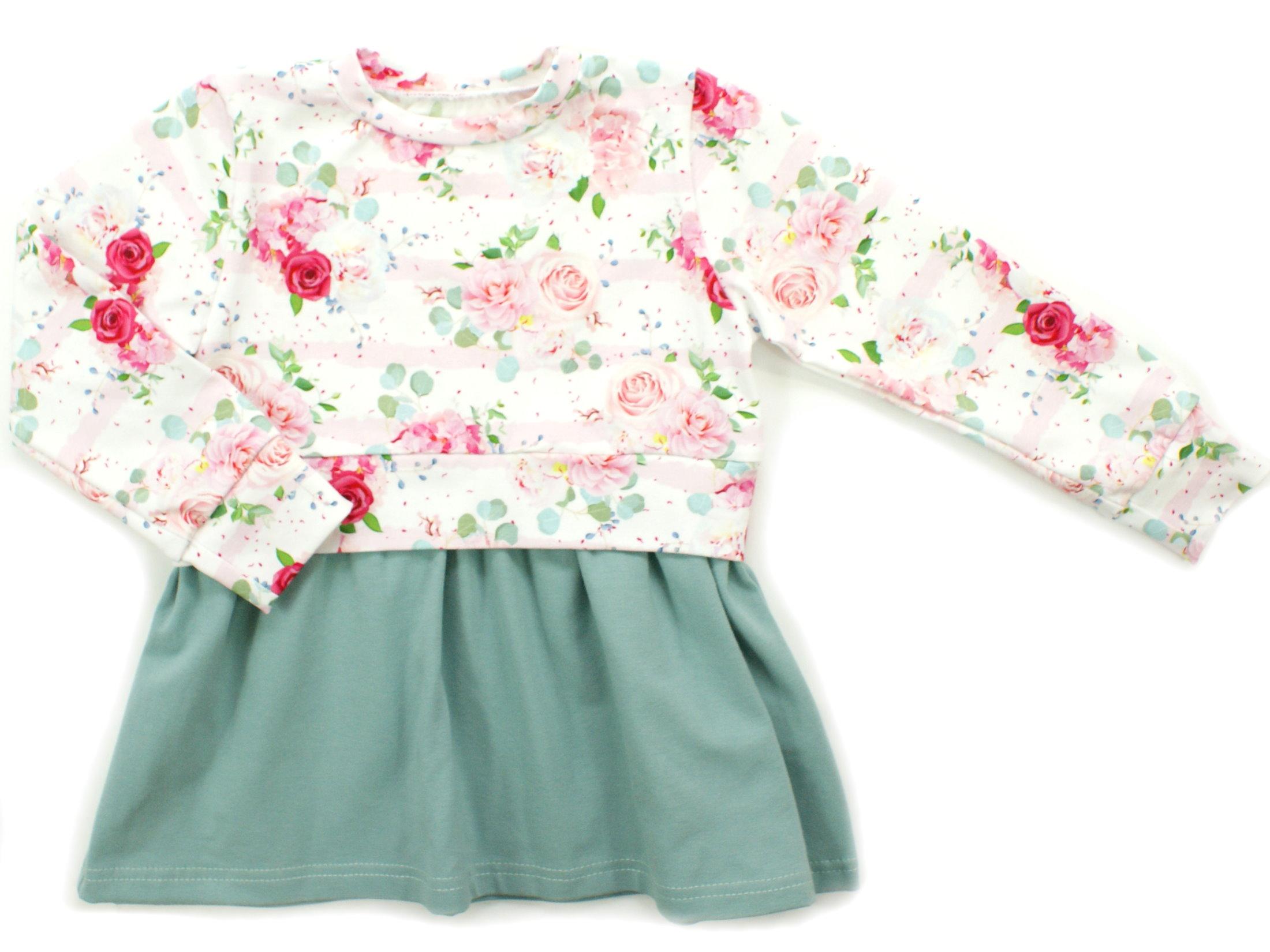 """Girly Dress Kinderkleid Blumen """"Pastel Flowers"""" weiß"""