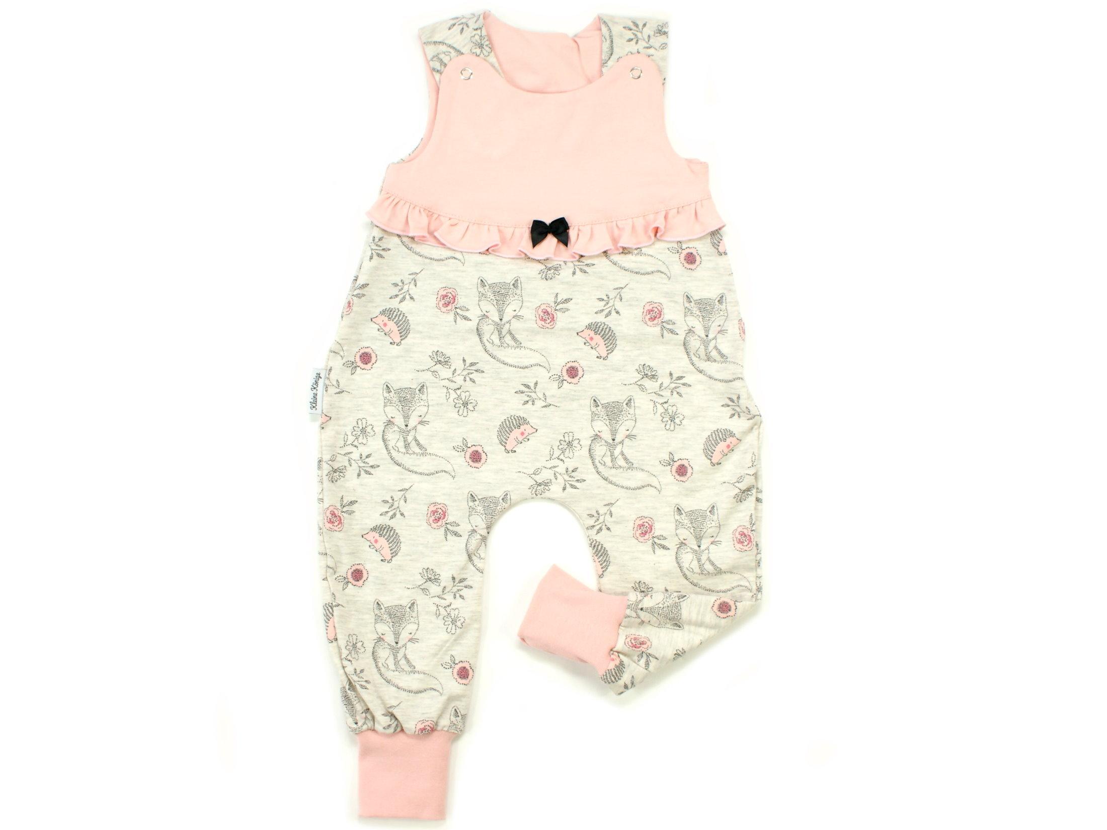 "Baby Strampler Igel ""Cutie Pies"" beige rosé"