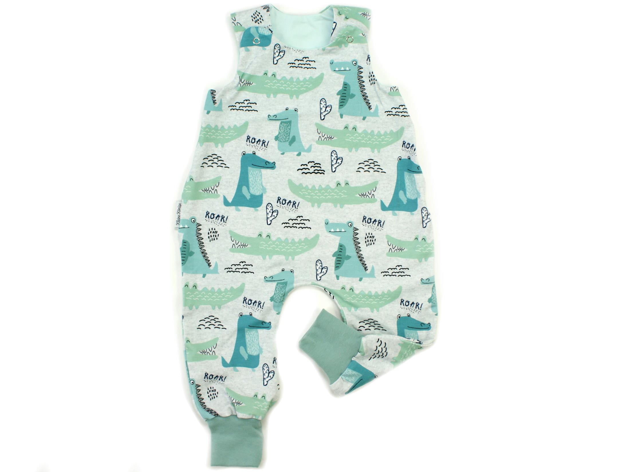 """Baby Strampler Krokodil """"Little Croco"""" mint"""