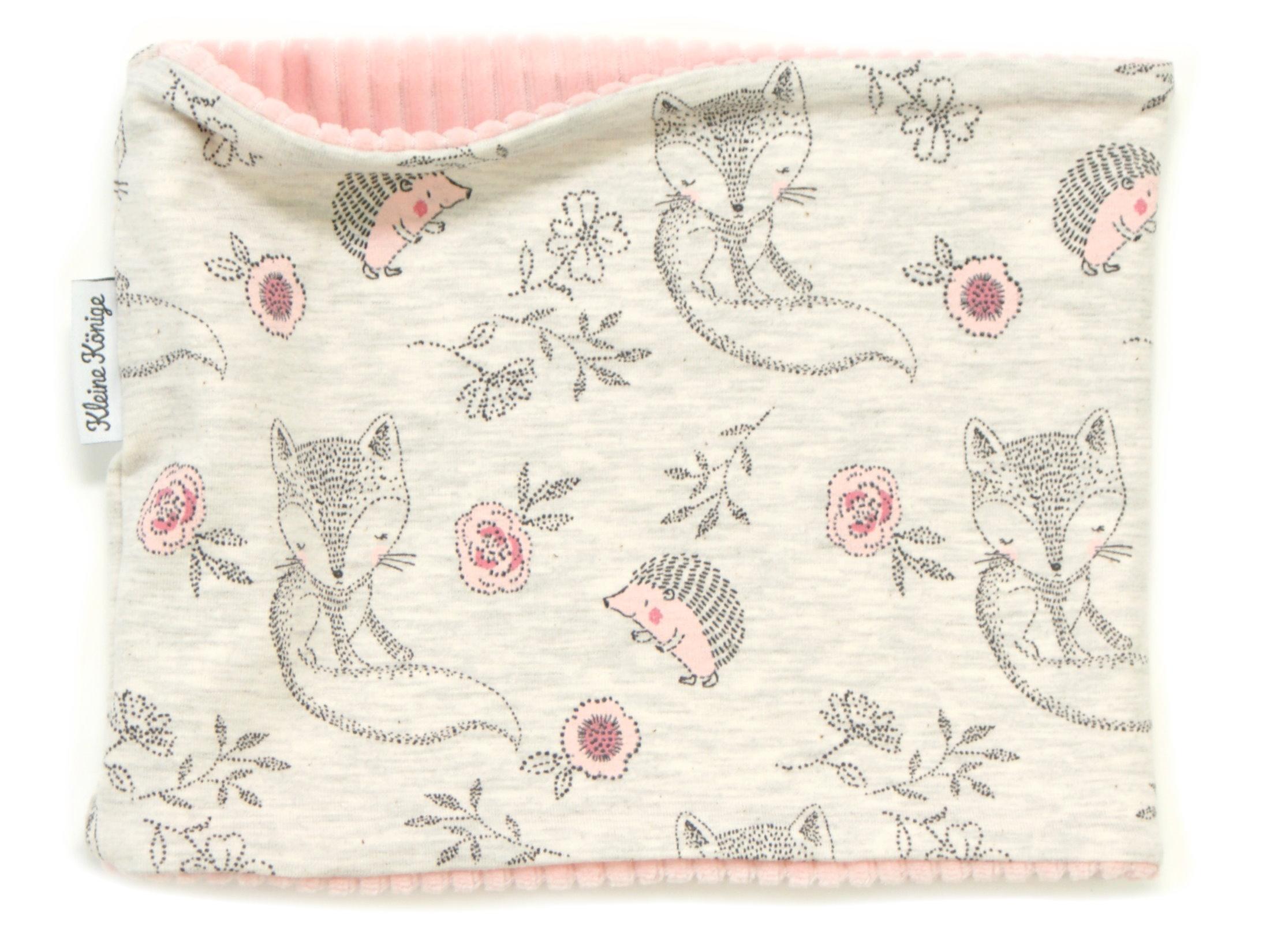 """Kinderloop Schal Igel """"Cutie Pies"""" beige rosa"""