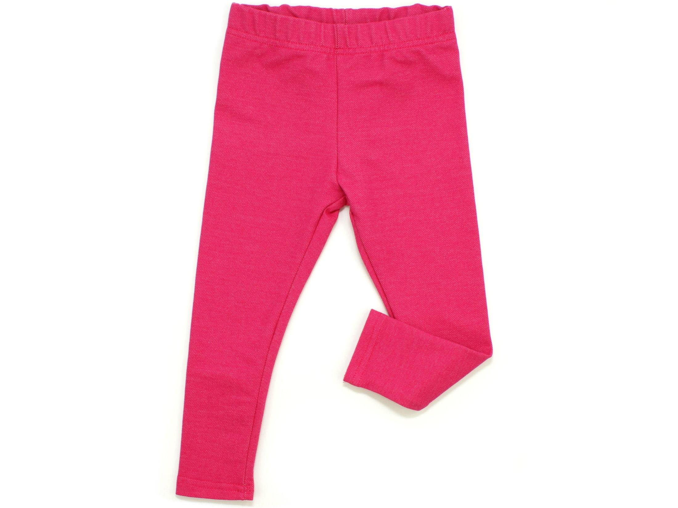 Kinder Leggings Jeansjersy pink