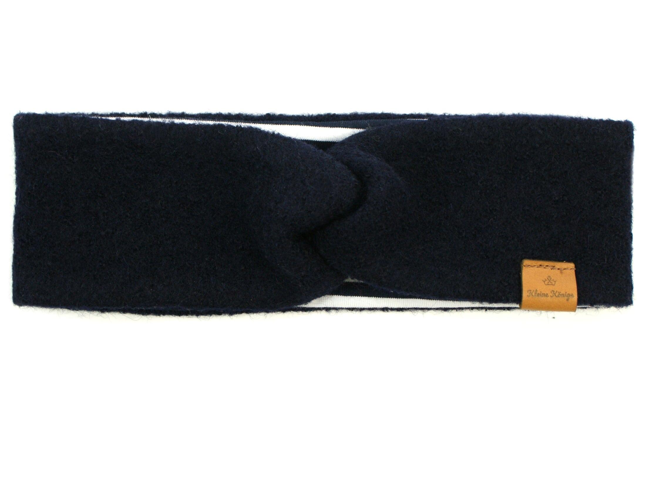 Walk Kinder Stirnband Haarband aus Wollwalk in Marineblau