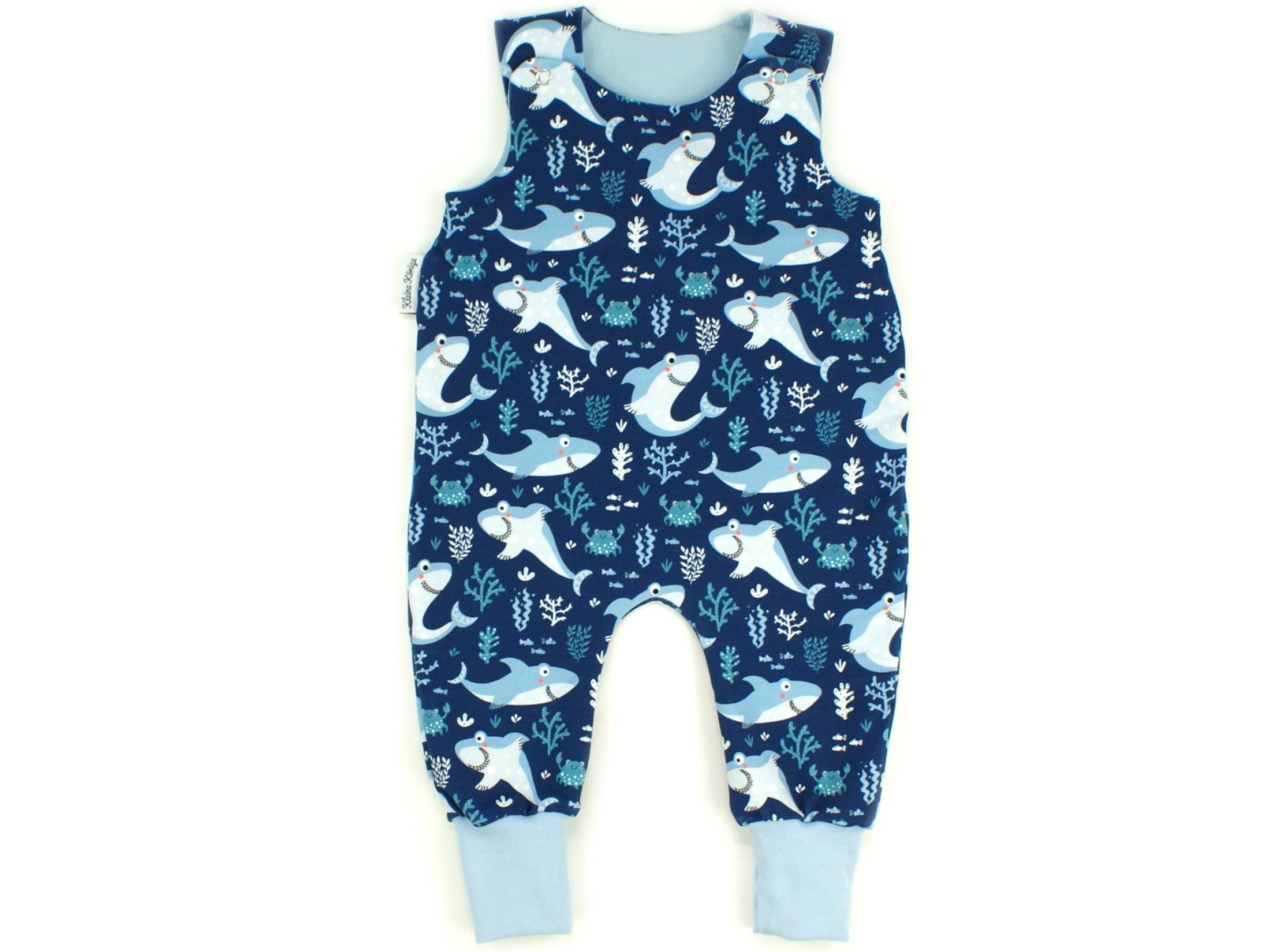 "Baby Strampler Hai ""Lucky Shark"" marineblau"