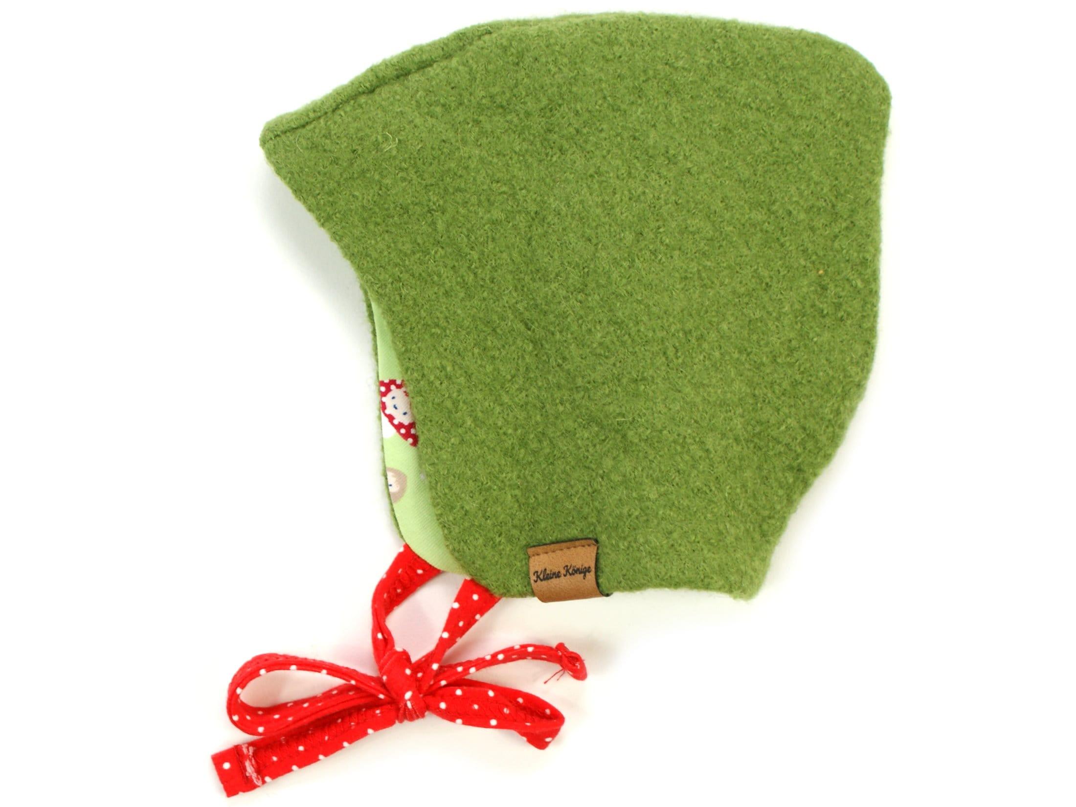 Walkmütze / Kindermütze aus Wollwalk in Grün