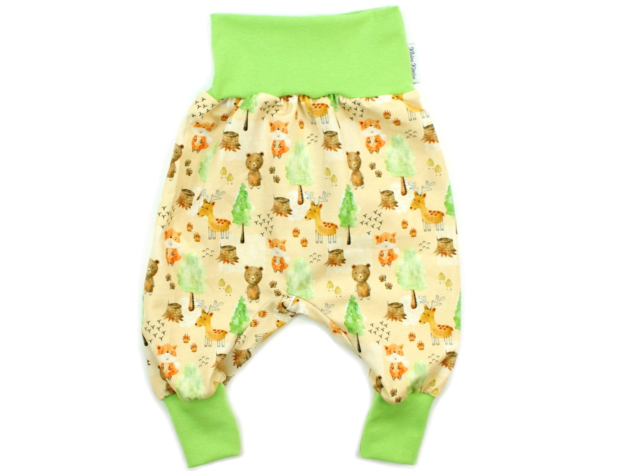 "Baby Pumphose Waldtiere ""Herbstwald"" beige braun"