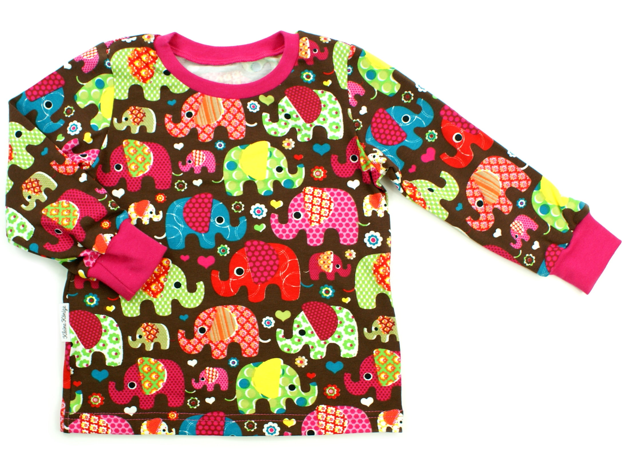 """Kinder Langarmshirt """"Elefantenparty"""" pink Allover"""