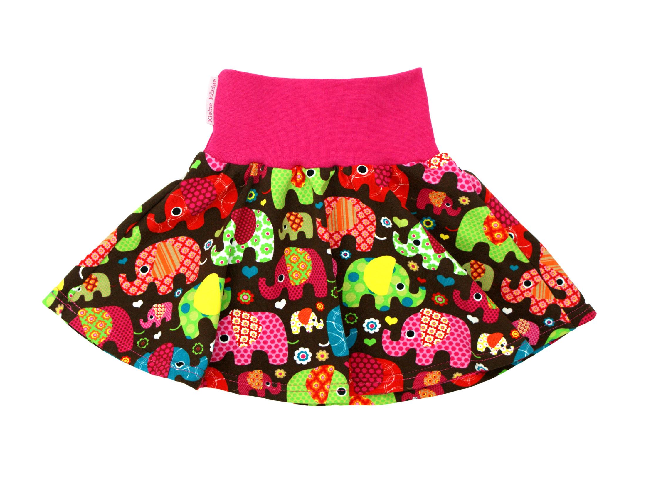 """Kinder Jerseyrock """"Elefantenparty"""" pink"""