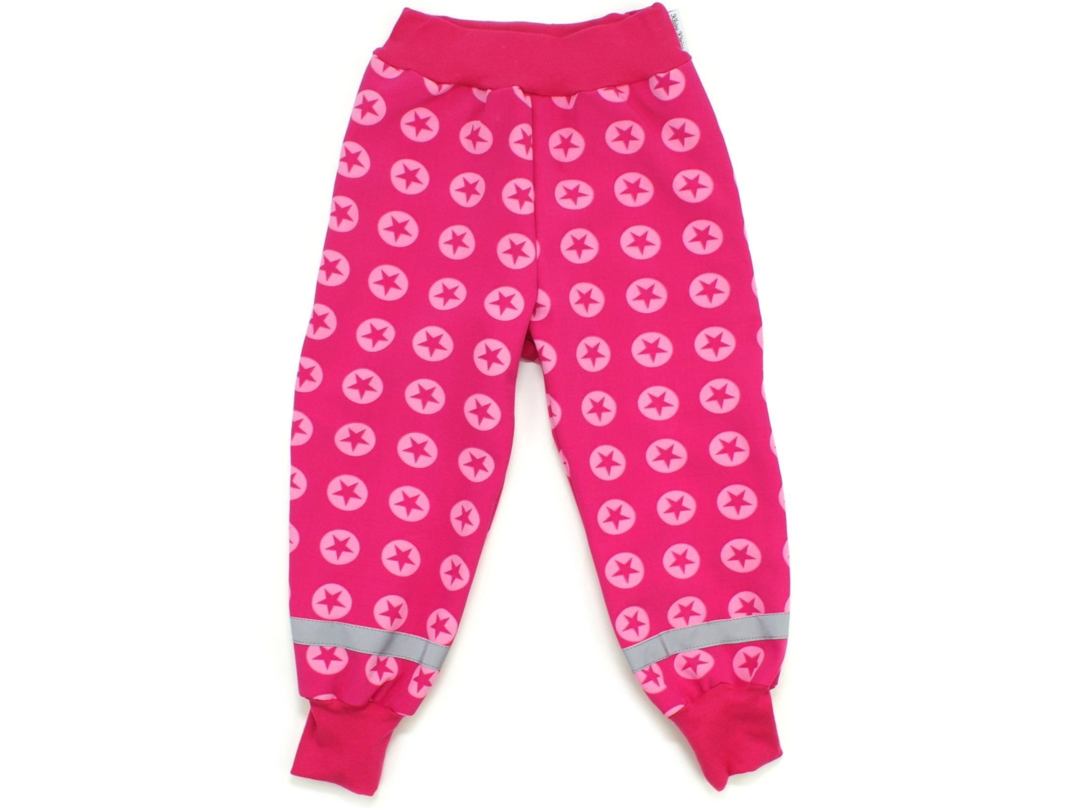 """Kinder Softshell-Hose Sterne """"Sternenkreis"""" pink"""