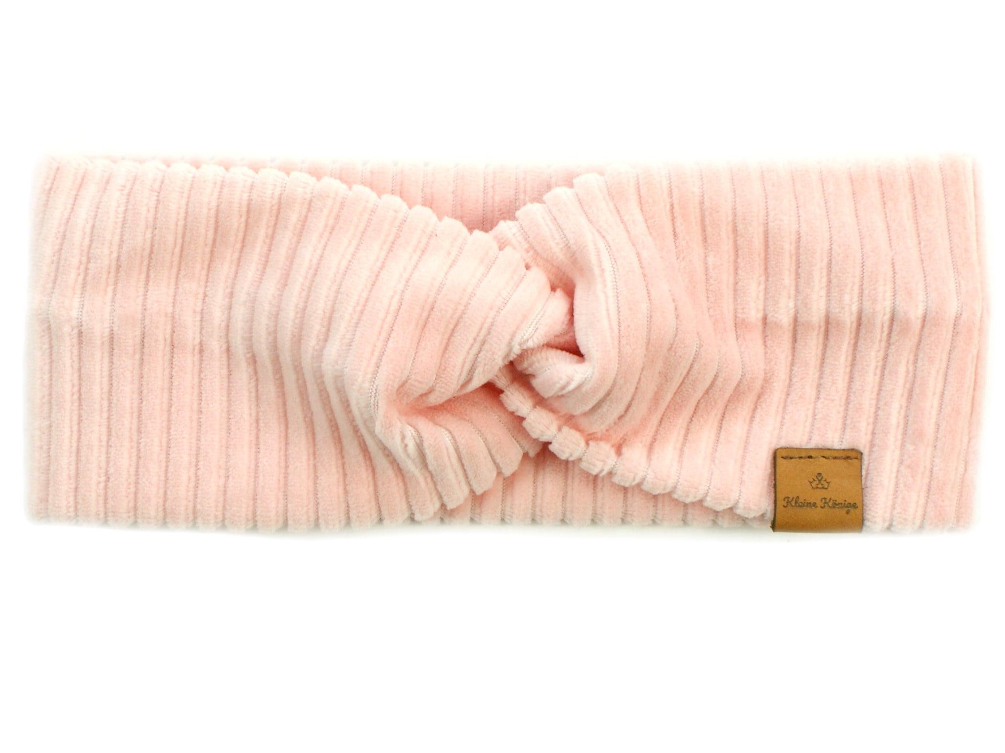 Kinder Haarband Stirnband aus Rippjersey rosa