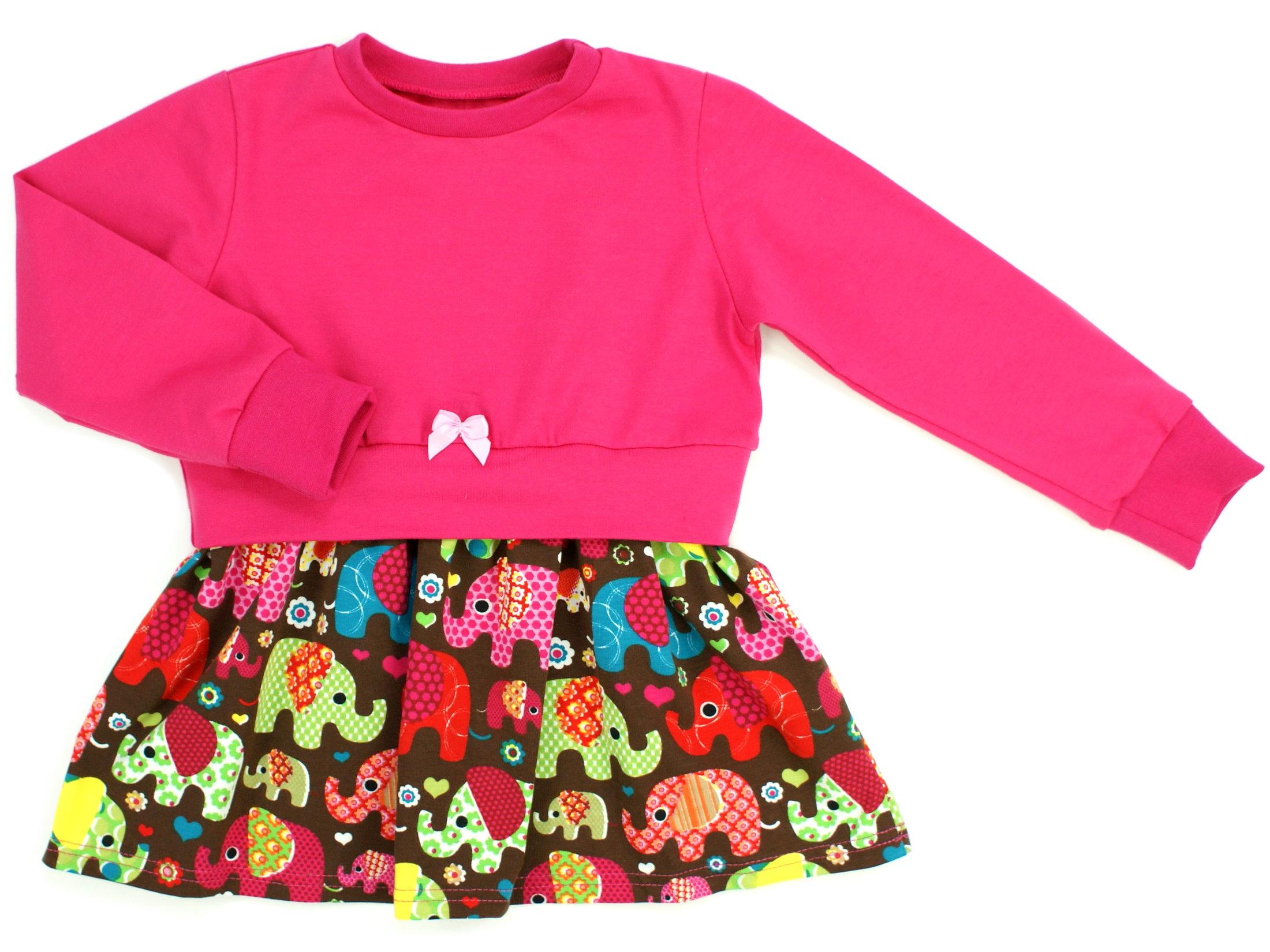 "Girly Dress Kinderkleid ""Elefantenparty"" pink"
