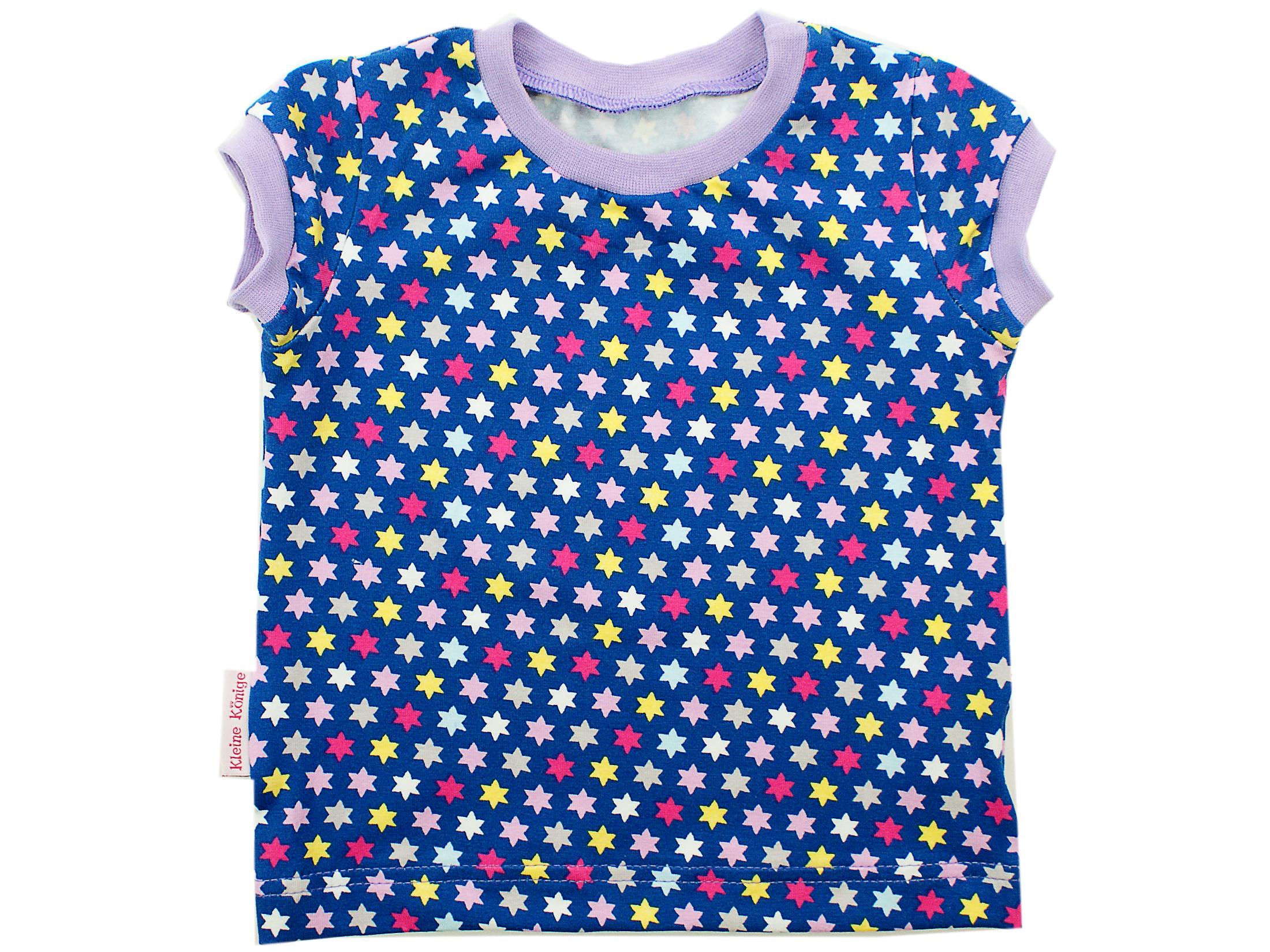 """Kinder T-Shirt """"Bunte Sterne"""" flieder in 74 bis 92"""