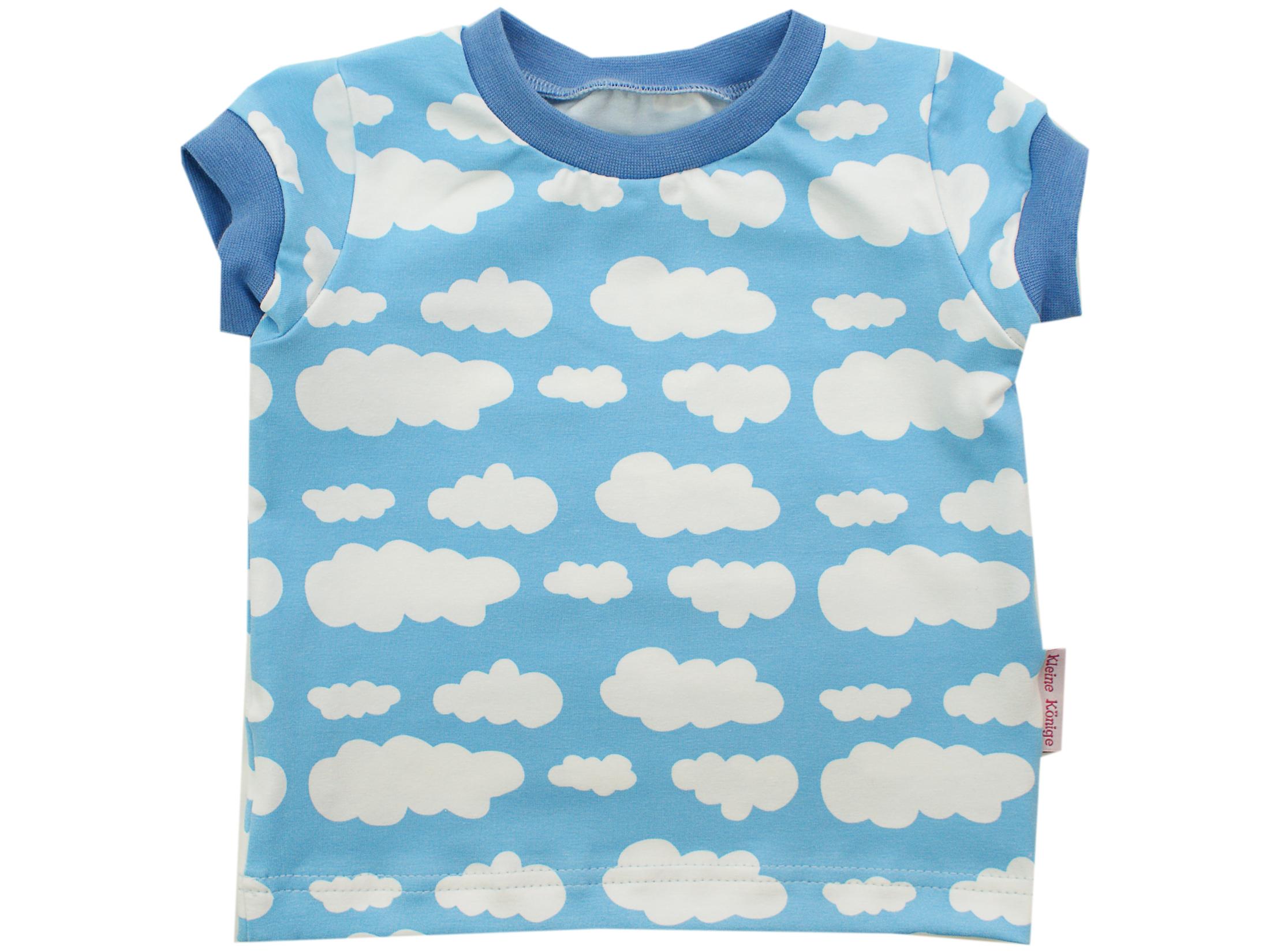 "Kinder T-Shirt ""Wolken"" hellblau in 74/80"