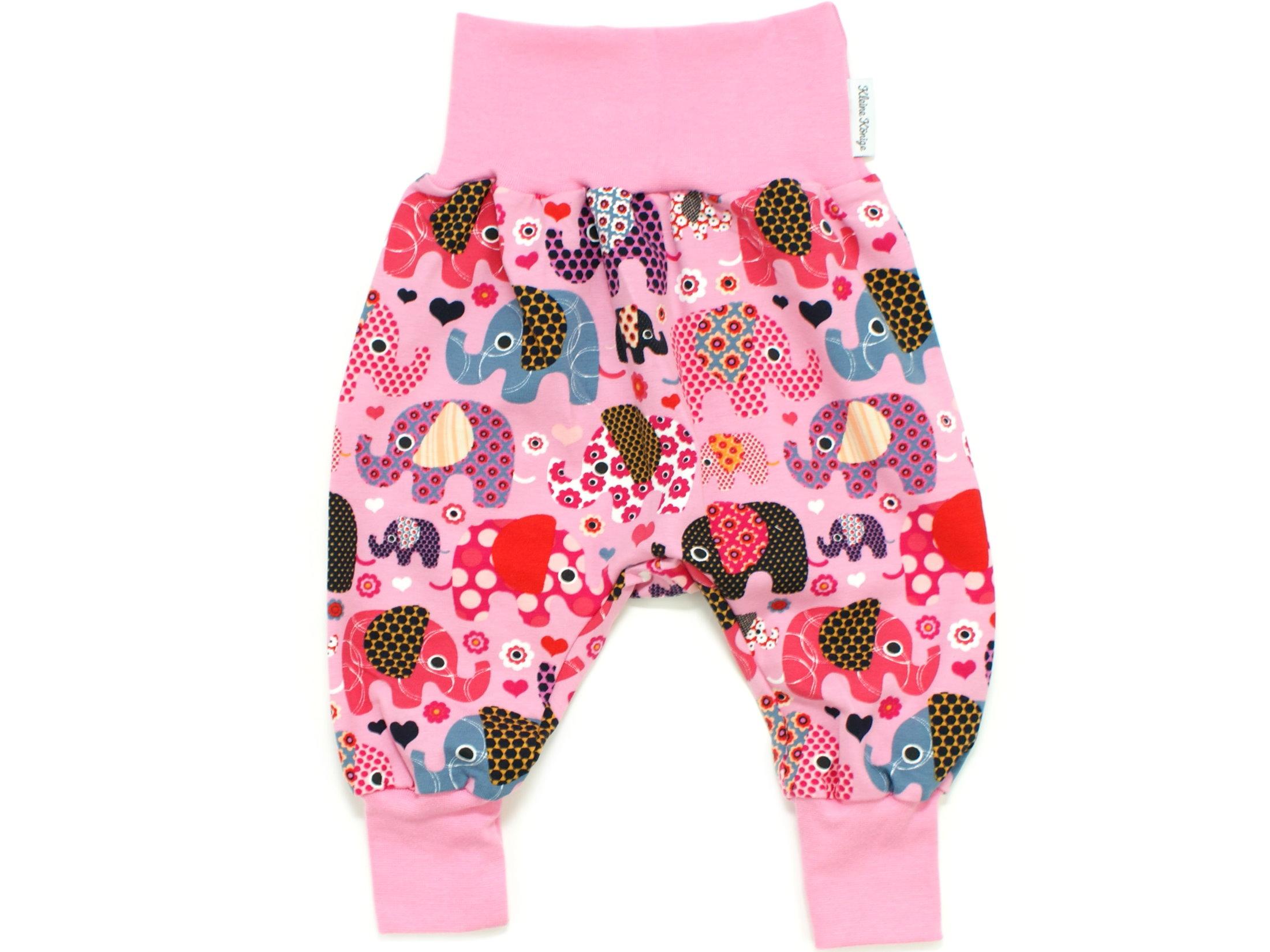 """Baby Pumphose Babyhose """"Elefantenparty"""" beere rosa"""