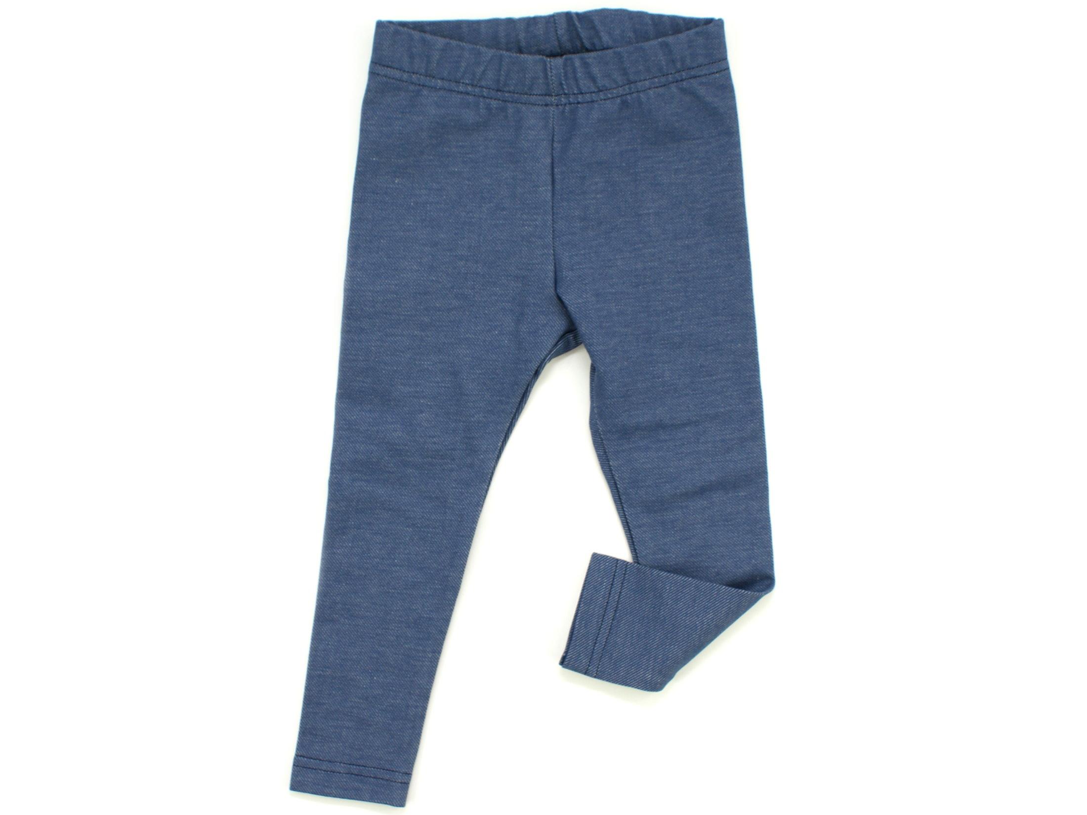 Kinder Leggings Jeansjersy blau