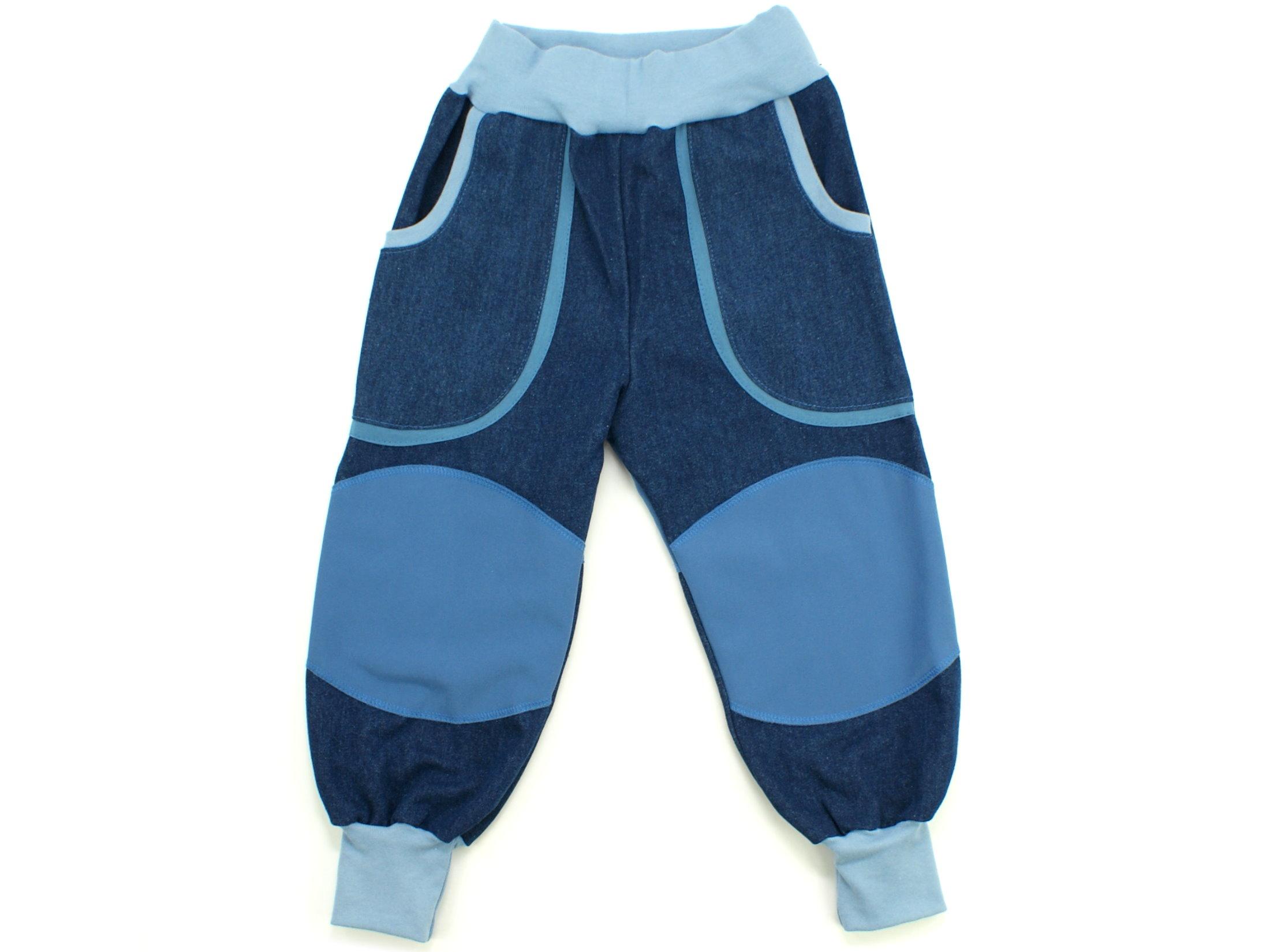 """Kinder Outdoorhose Jeans Räuberhose  """"Uni"""" jeansblau"""