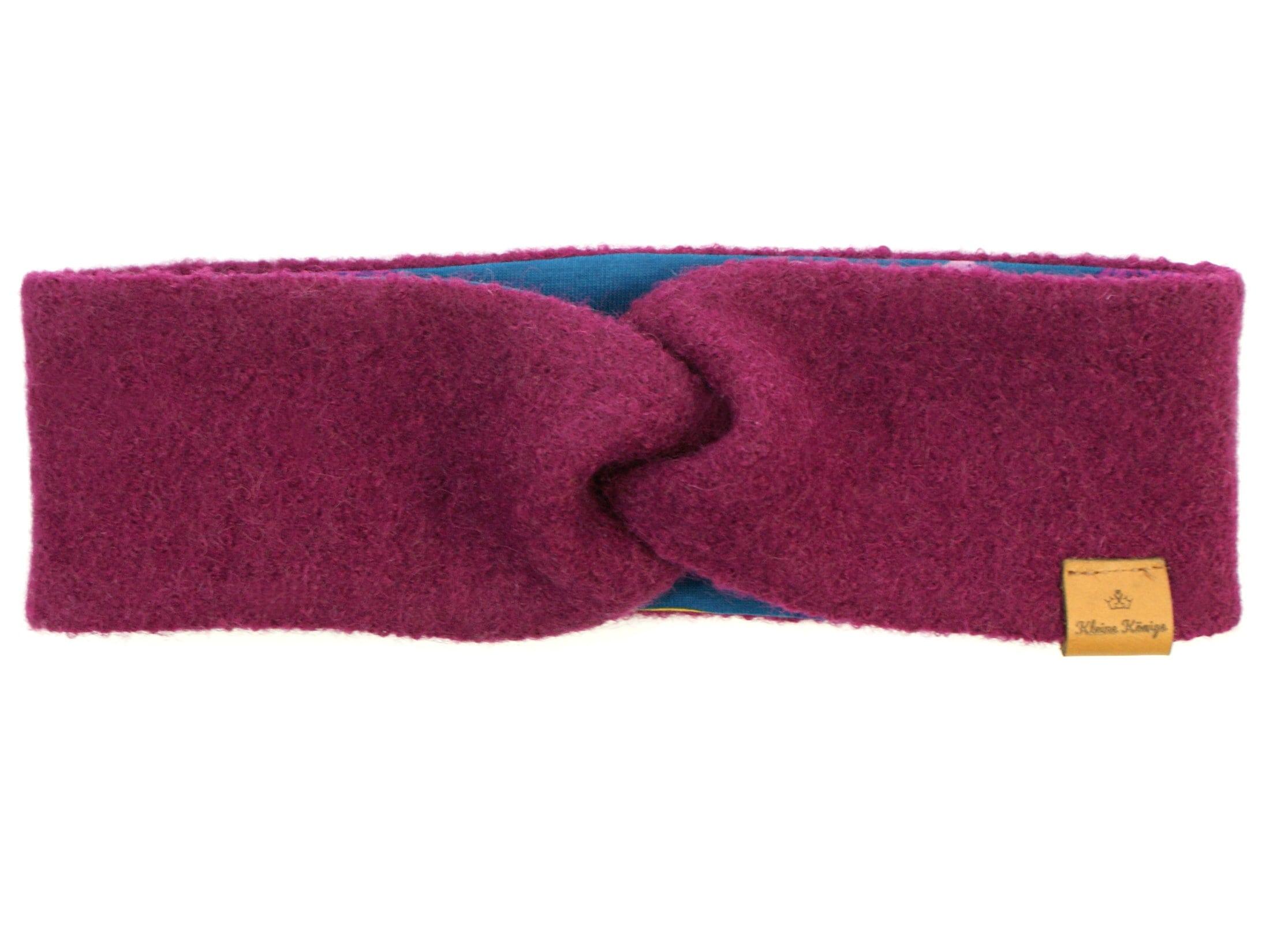 Walk Kinder Stirnband Haarband aus Wollwalk in Beere