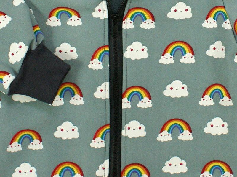 """Kinder Softshell-Jacke """"Rainbow"""" grau"""
