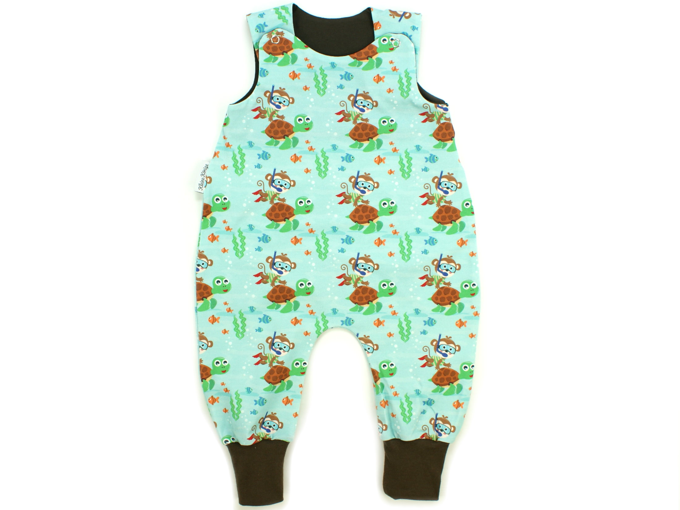 "Baby Strampler Affe ""Diving Monkey"" aqua"
