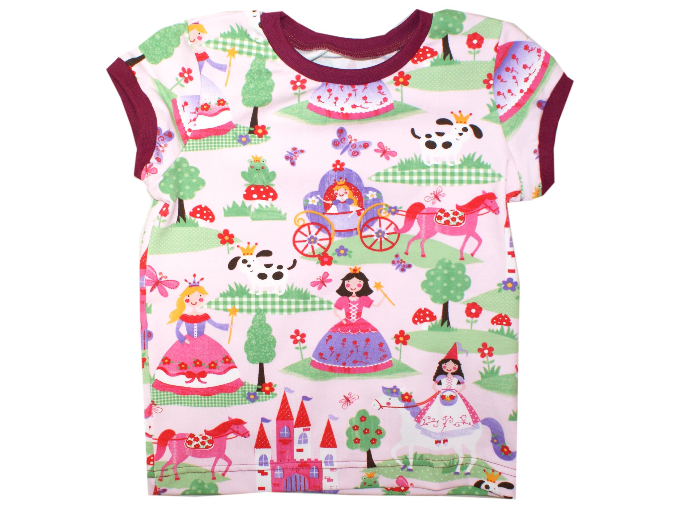 """Kinder T-Shirt """"Prinzessin"""" rosa beere in 74/80"""