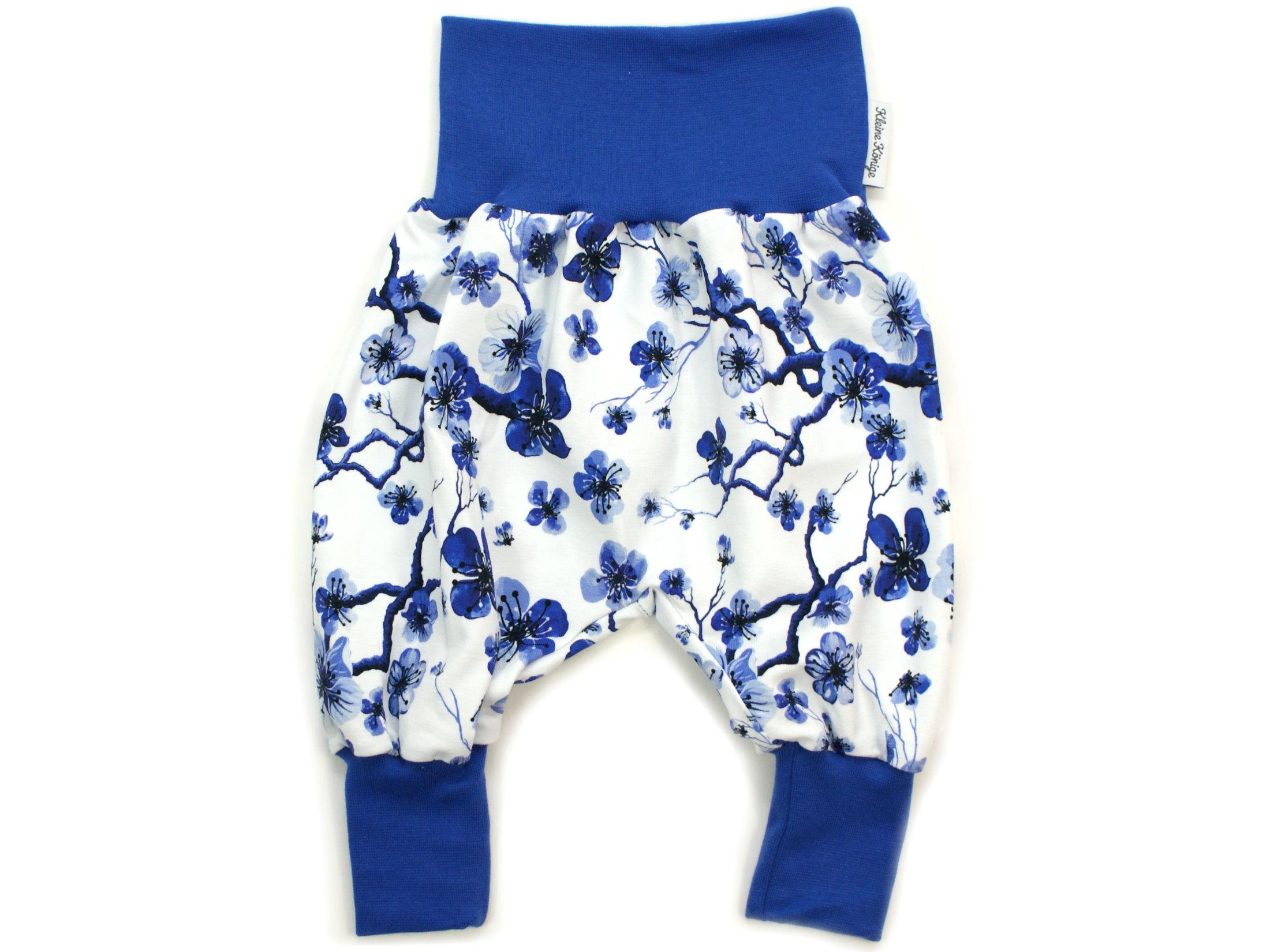 """Baby Pumphose Blumen """"Blue Flowers"""" blau weiß"""