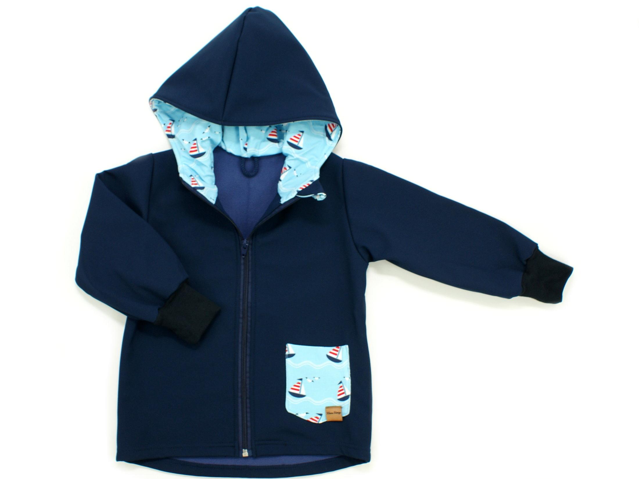 """Kinder Softshell-Jacke """"Uni"""" marineblau"""