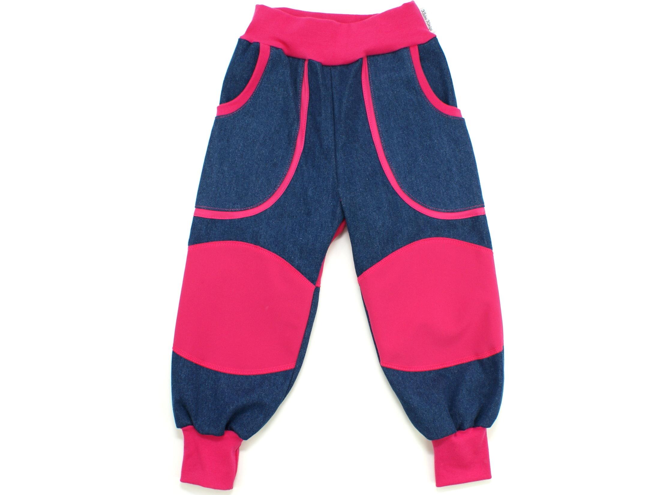 "Kinder Outdoorhose Jeans Räuberhose  ""Uni"" pink"