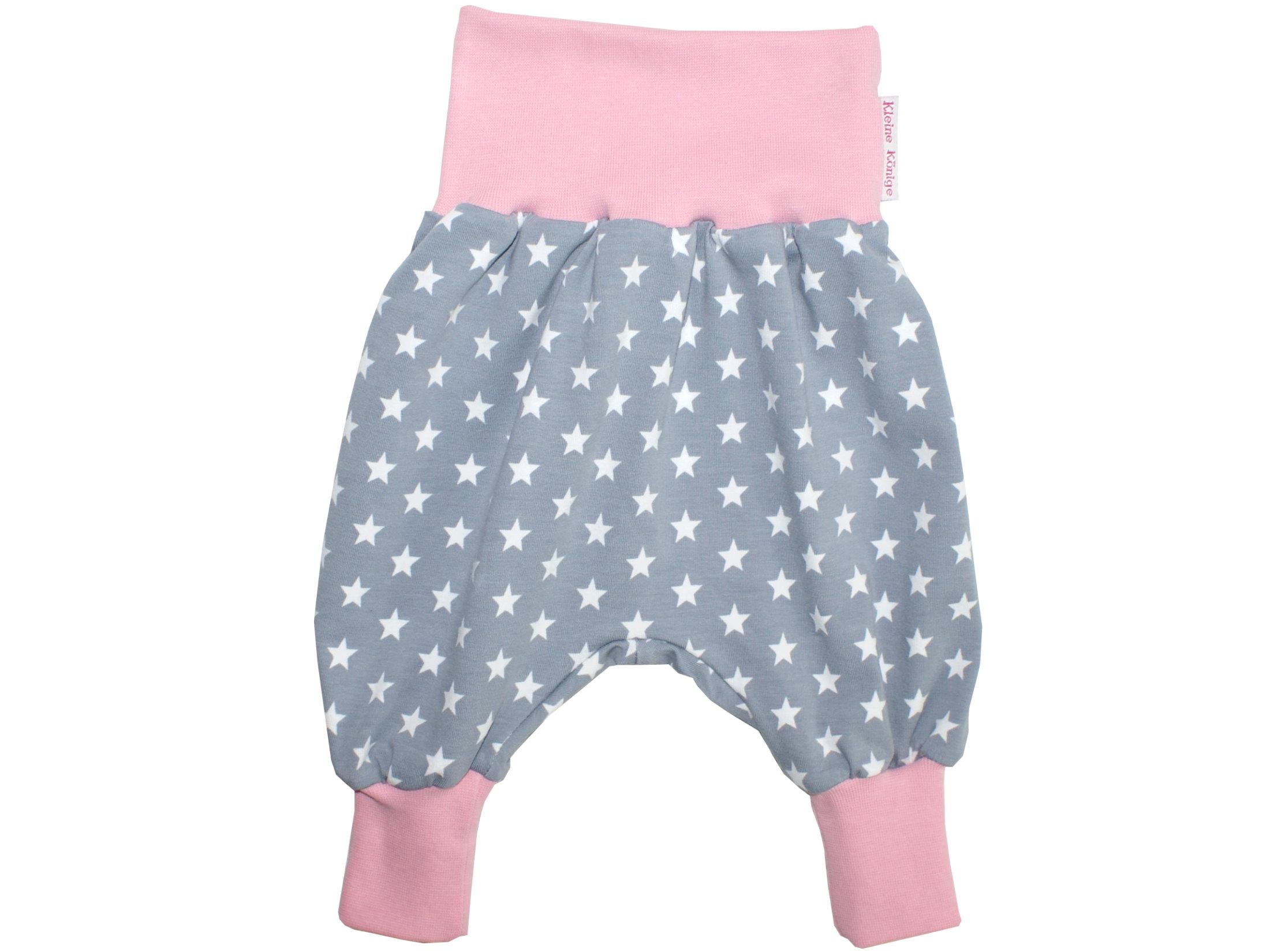 "Baby Pumphose Sterne ""Superstar"" grau rosa"