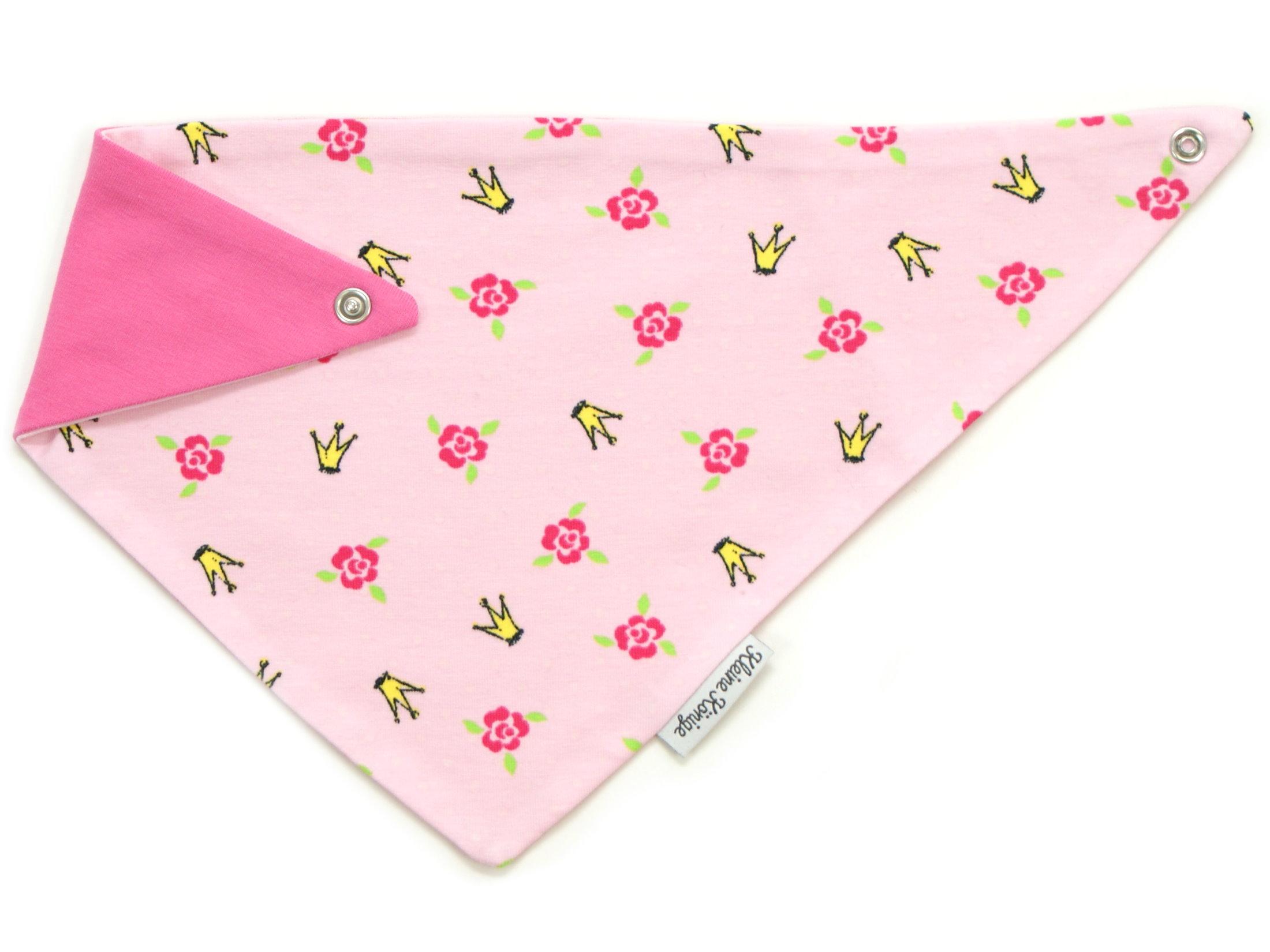 """Baby Wende-Halstuch """"Krönchen"""" pink rosa"""