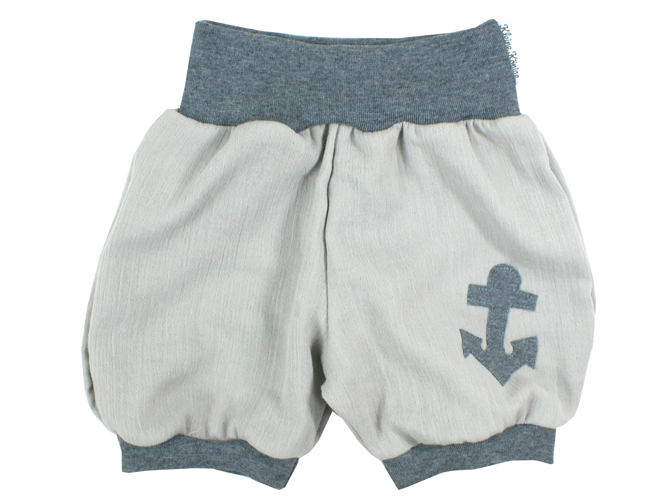"Musselin Kinder Shorts Anker ""Uni"" grau anthrazit"