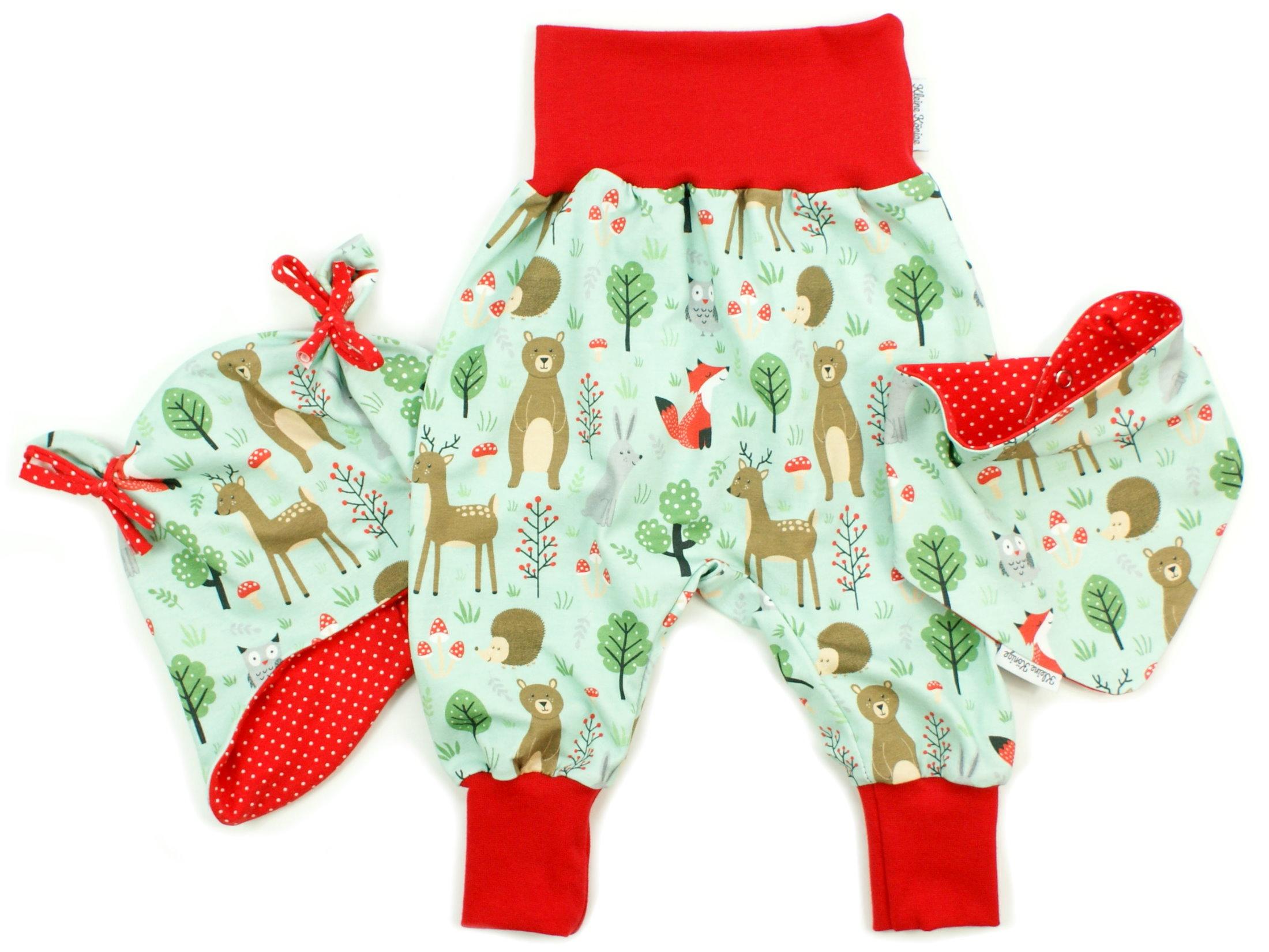 """Baby Pumphose Fuchs, Reh """"Green Forest"""" grün"""