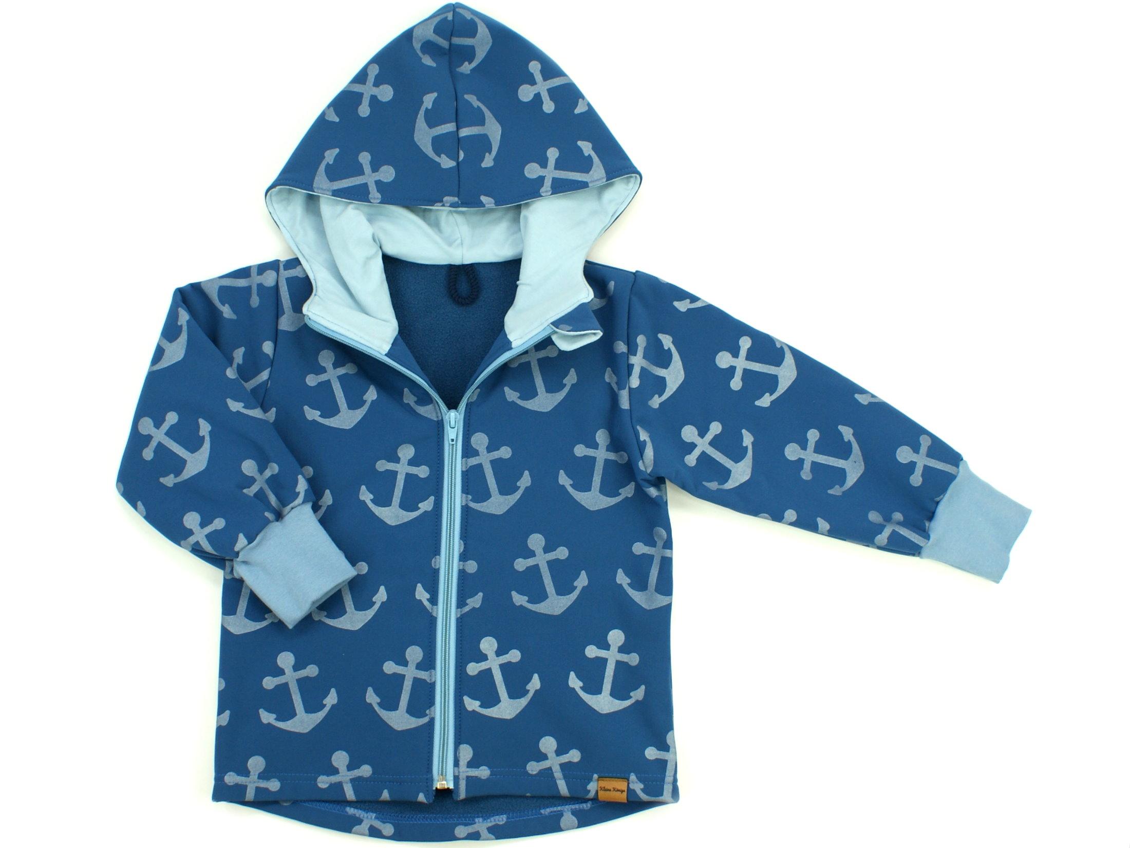 "Kinder Softshell-Jacke Anker ""Big Anchor"" jeansblau hellblau"