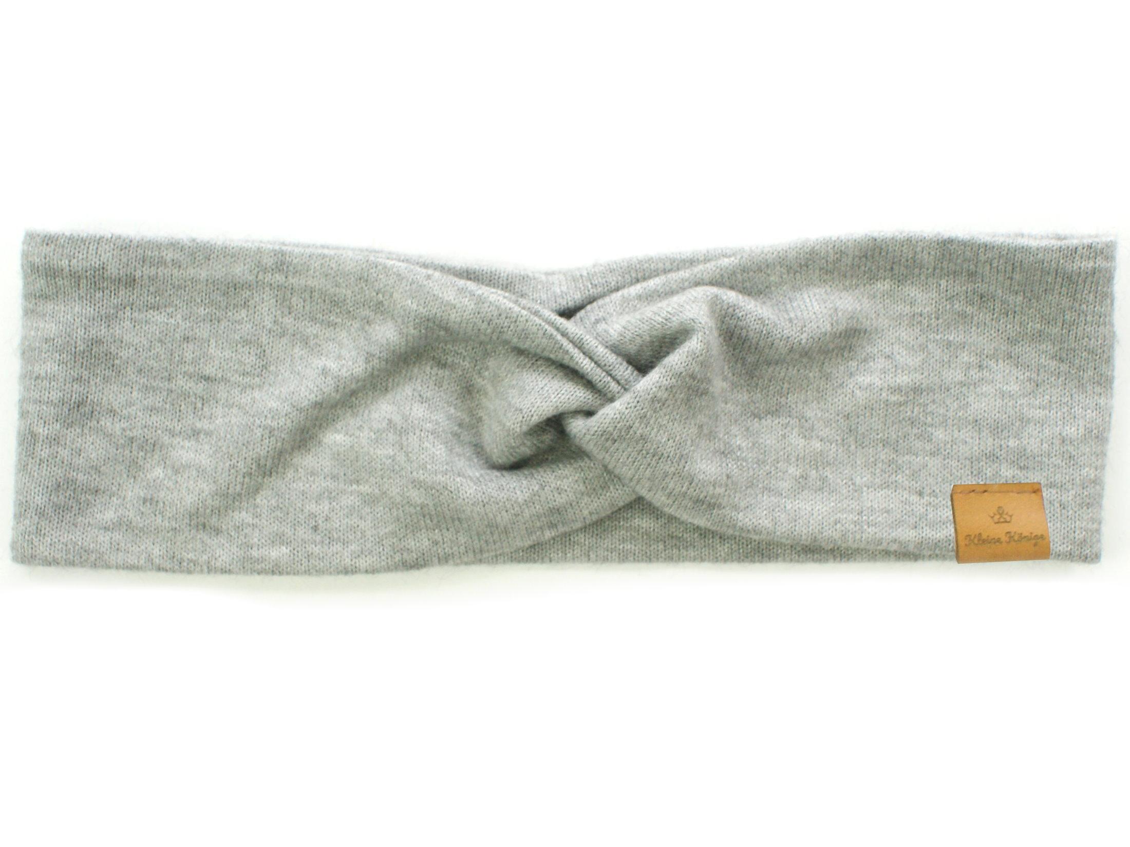 Damen Haarband aus Strickstoff in grau