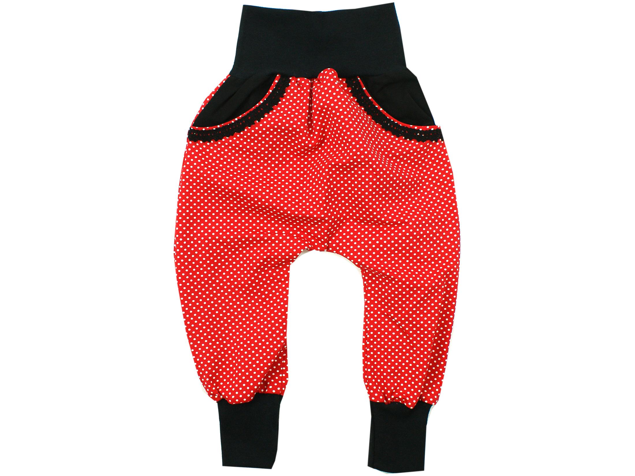 """Pumphose mit Tasche """"Punkte"""" rot schwarz"""