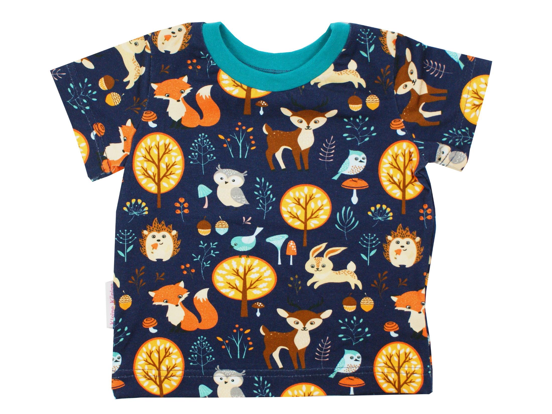 "Kinder T-Shirt Fuchs, Reh ""Forest Friends"" marineblau"