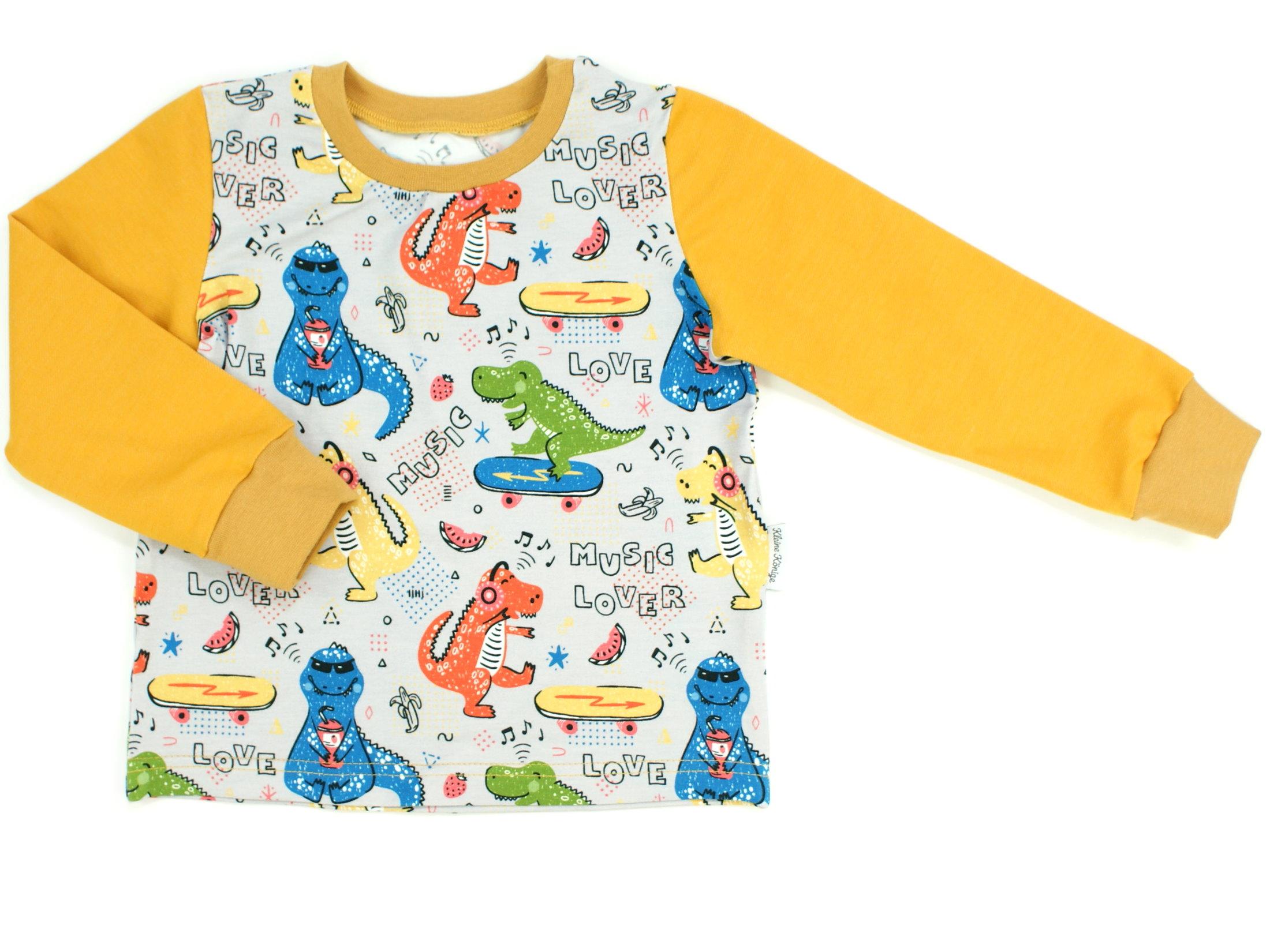 """Kinder Langarmshirt """"Music Dino"""" senfgelb"""