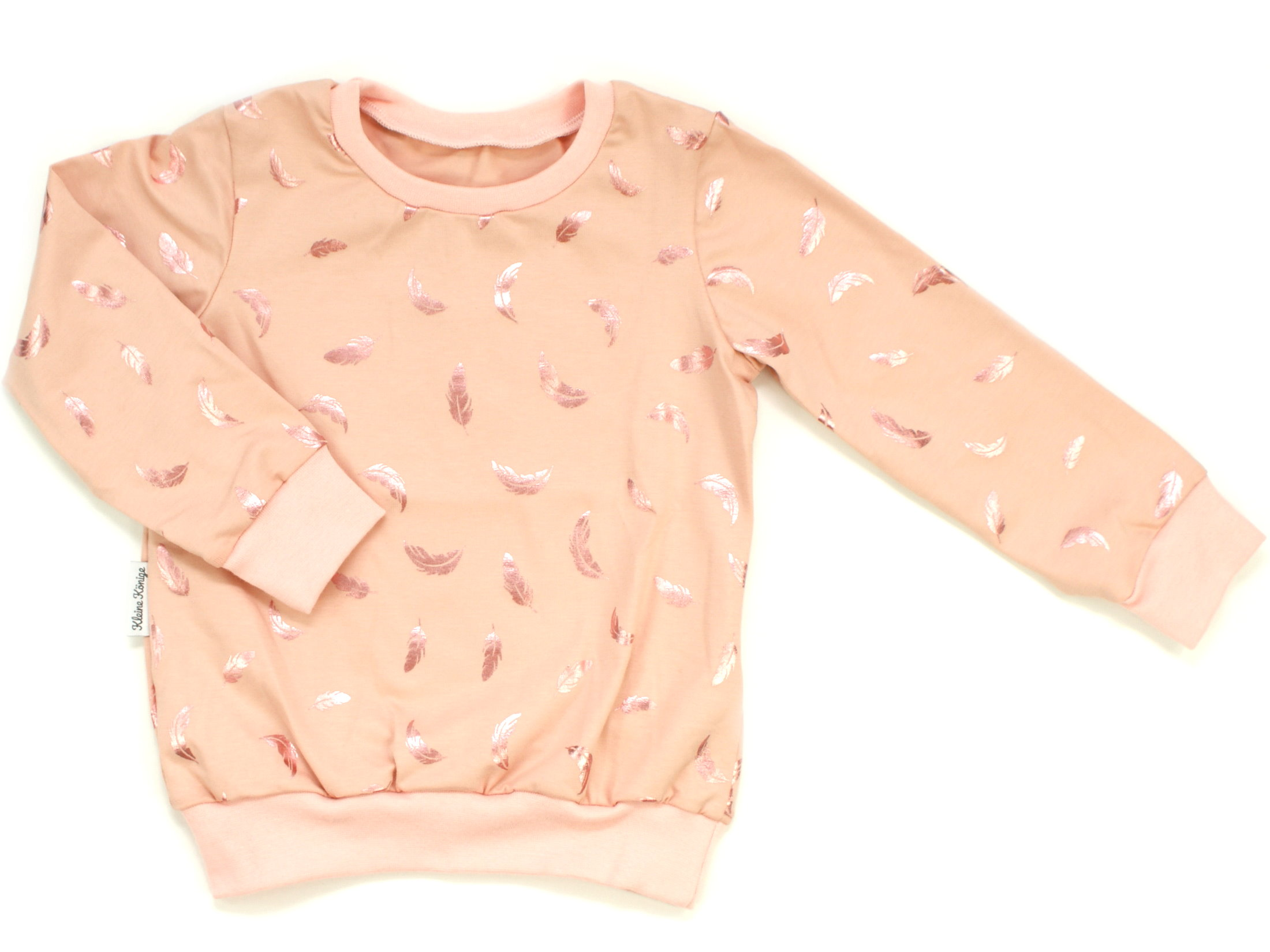 """Kinder Pullover Shirt """"Federn"""" apricot"""