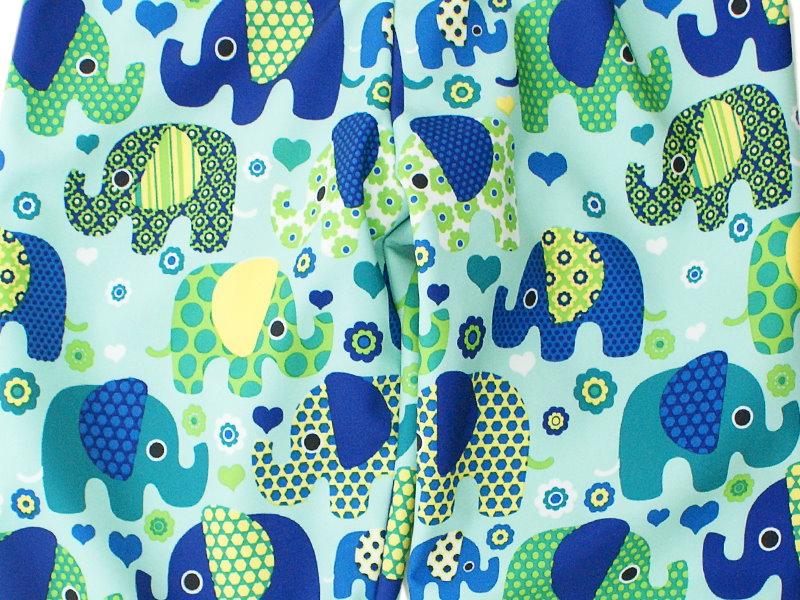 "Kinder Softshell-Hose ""Elefantenparty"" blau türkis"