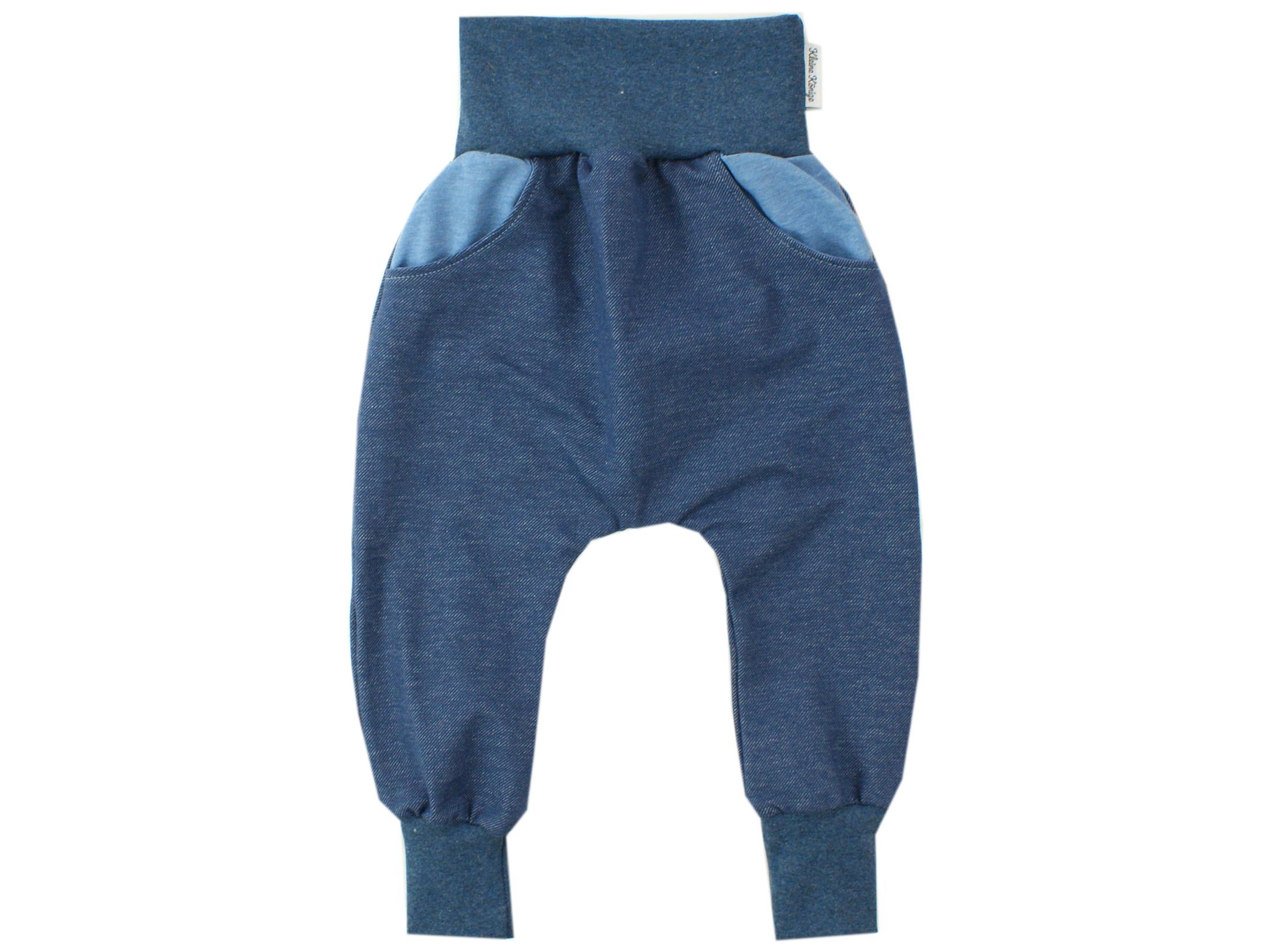 Kinderhose mit Taschen Jeansjersey dunkelblau