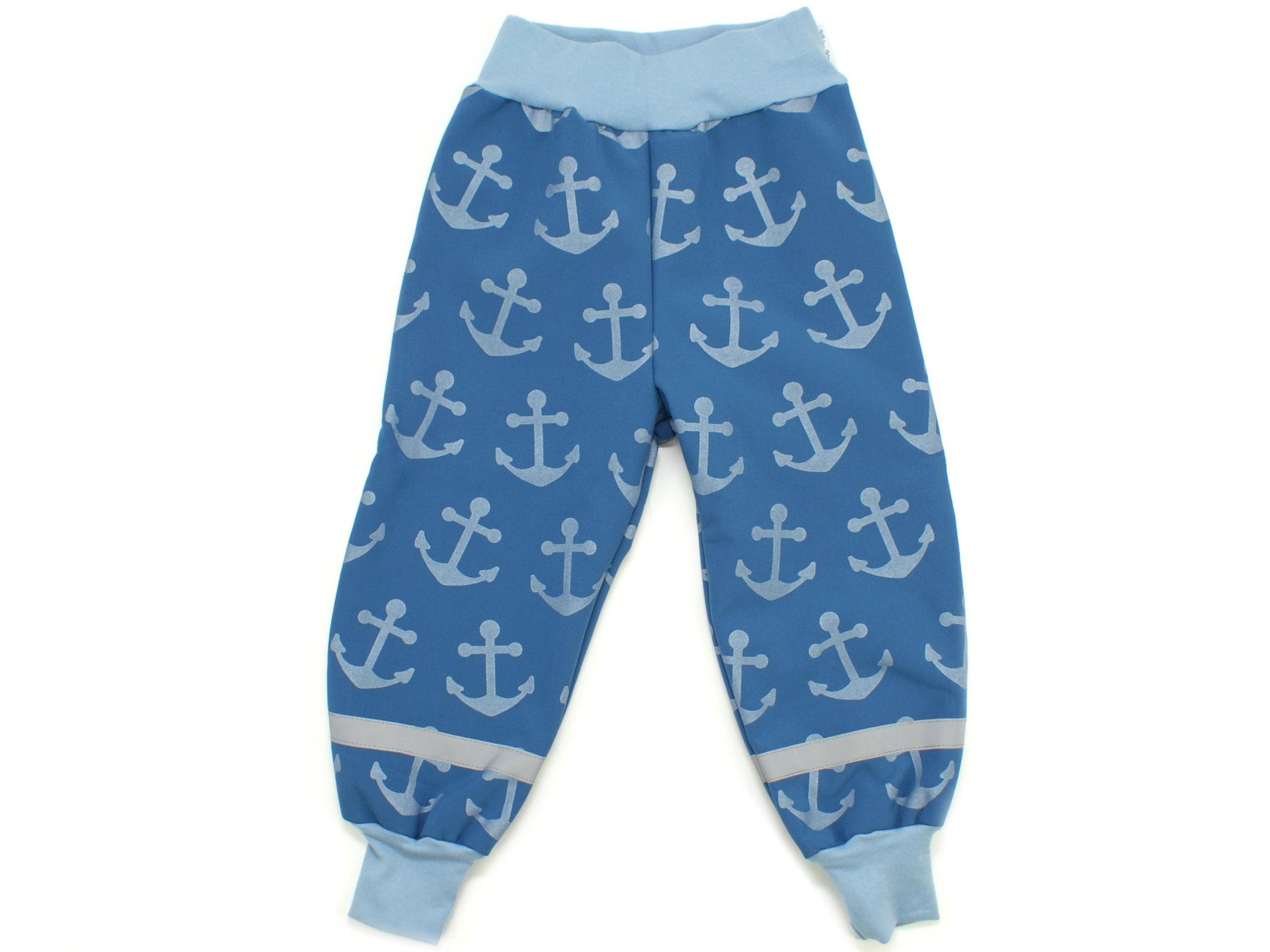 """Kinder Softshell-Hose Anker """"Big Anchor"""" jeansblau"""
