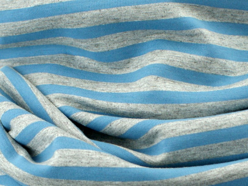 "Damen Looptuch ""Streifen"" grau blau"
