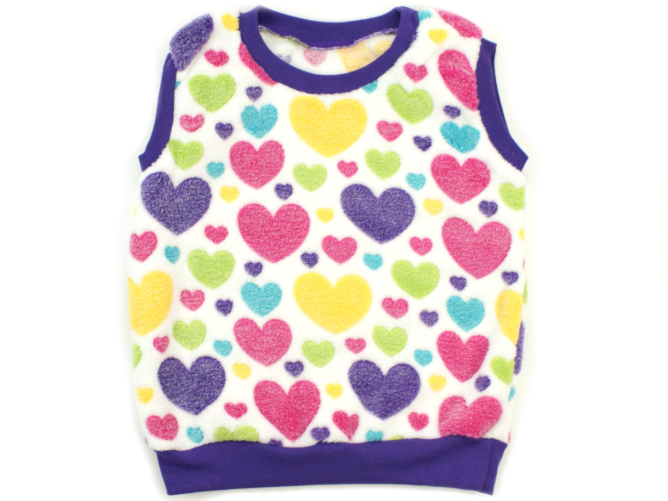 "Kinder Pullunder ""Hearts"" bunt aus Kuschelfleece"