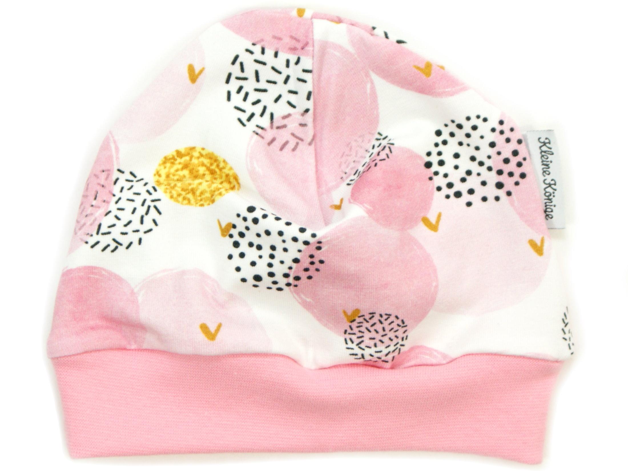 """Kindermütze Punkte """"Glitter Dots"""" rosa gold"""