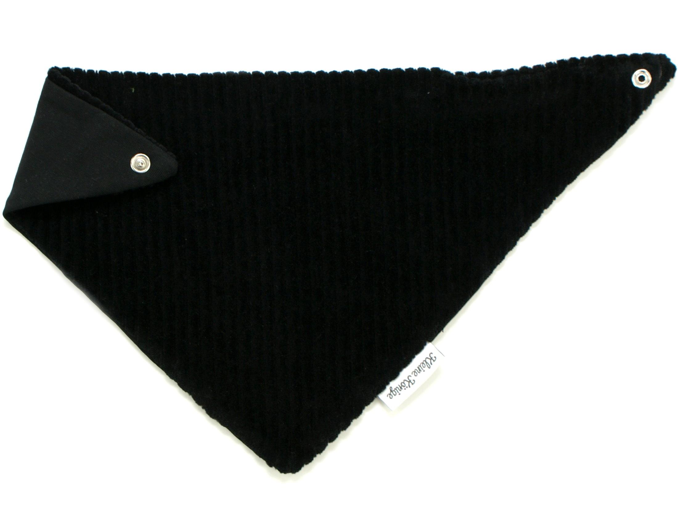 Baby Wende-Halstuch aus Rippjersey schwarz